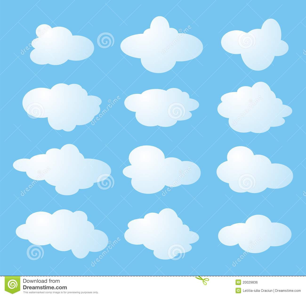 Twelve shapes of clouds