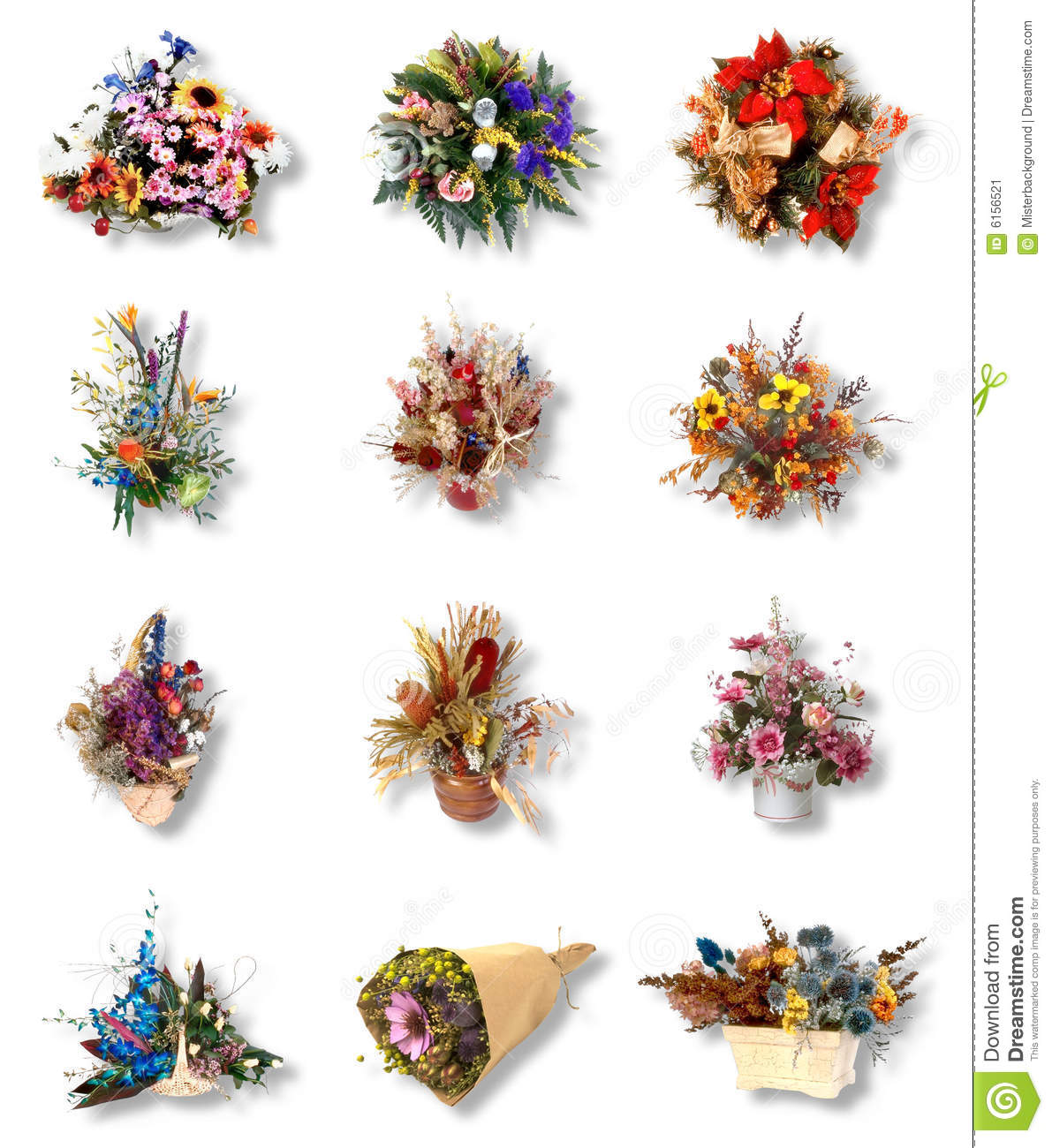 Twelve Very Pretty Bouquet Of Flower Stock Image Image