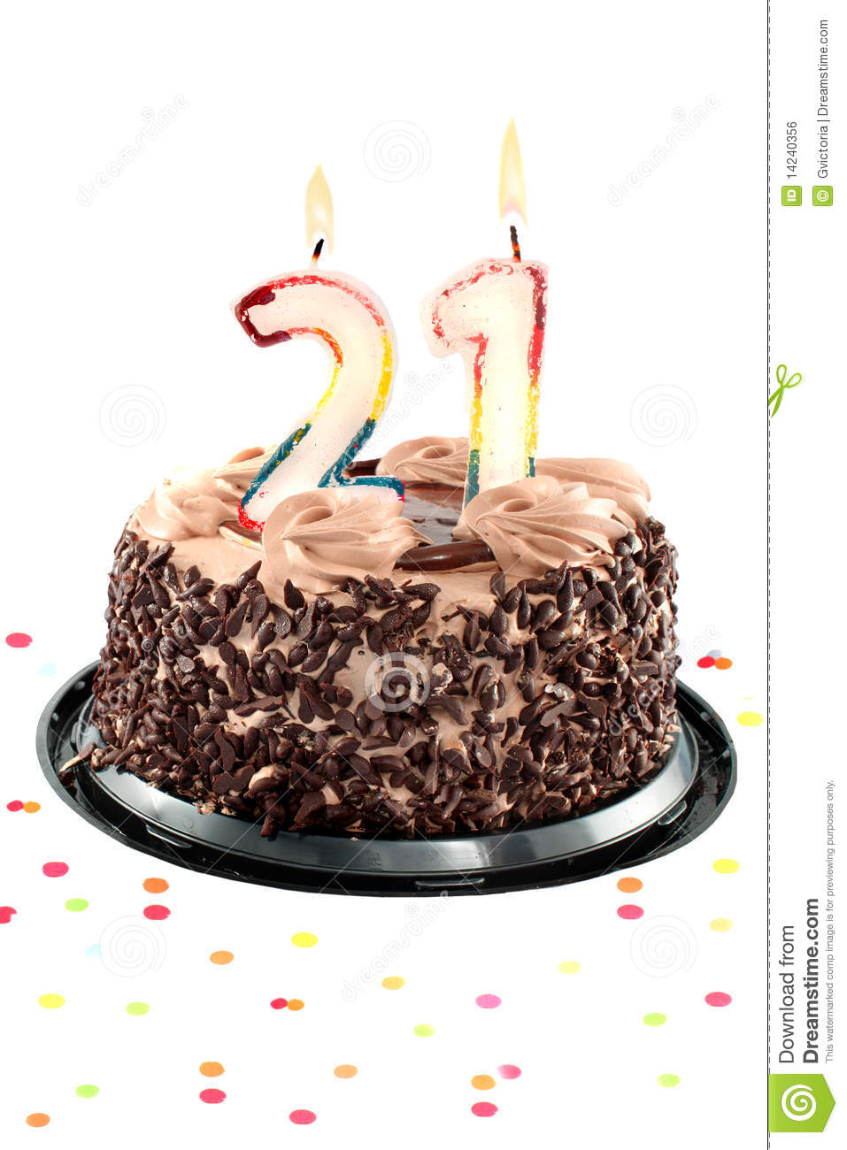 Twenty First Birthday Or Anniversary Royalty Free Stock Image ...