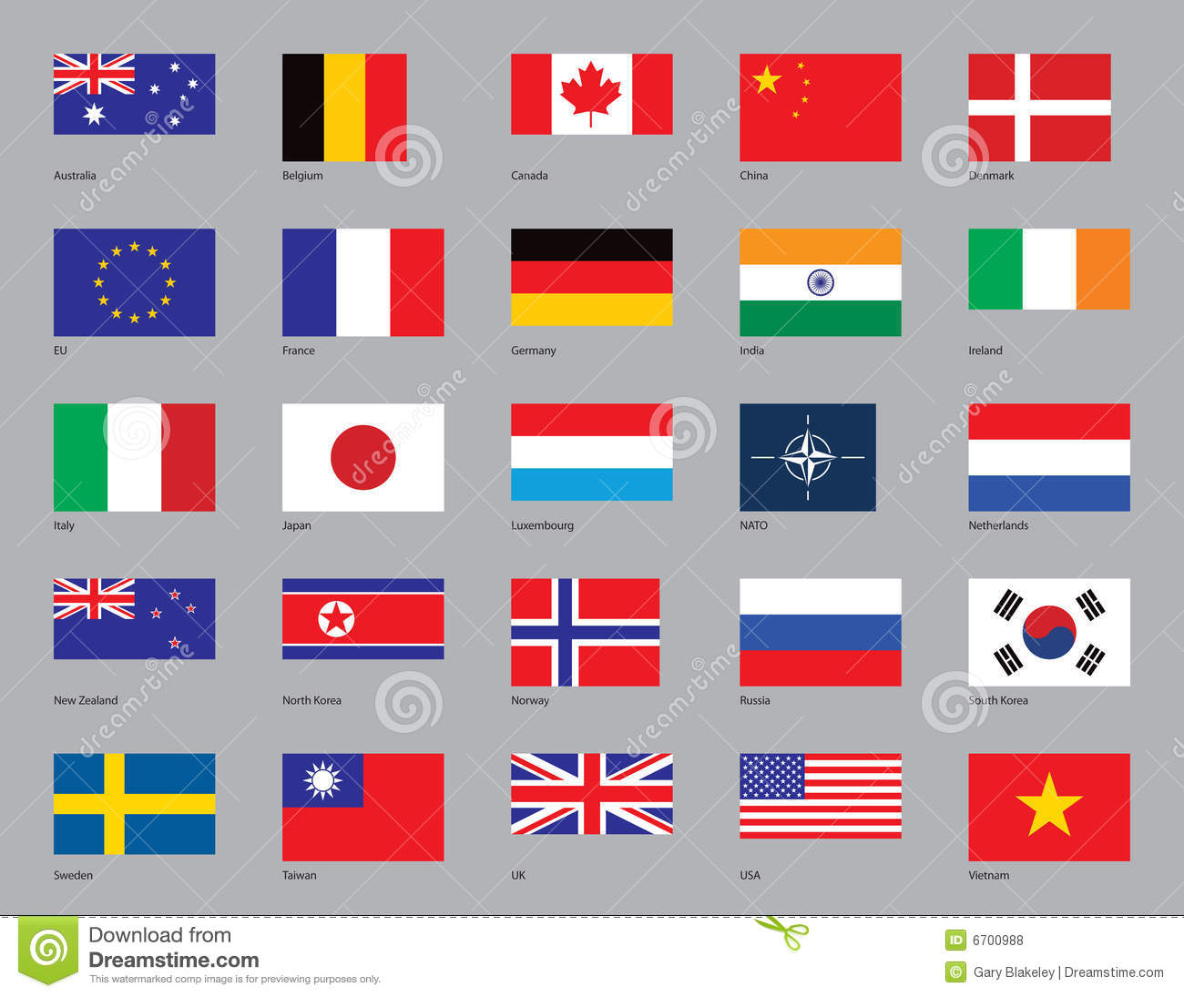 Twenty-Five Flags Royalty Free Stock Photos - Image: 6700988