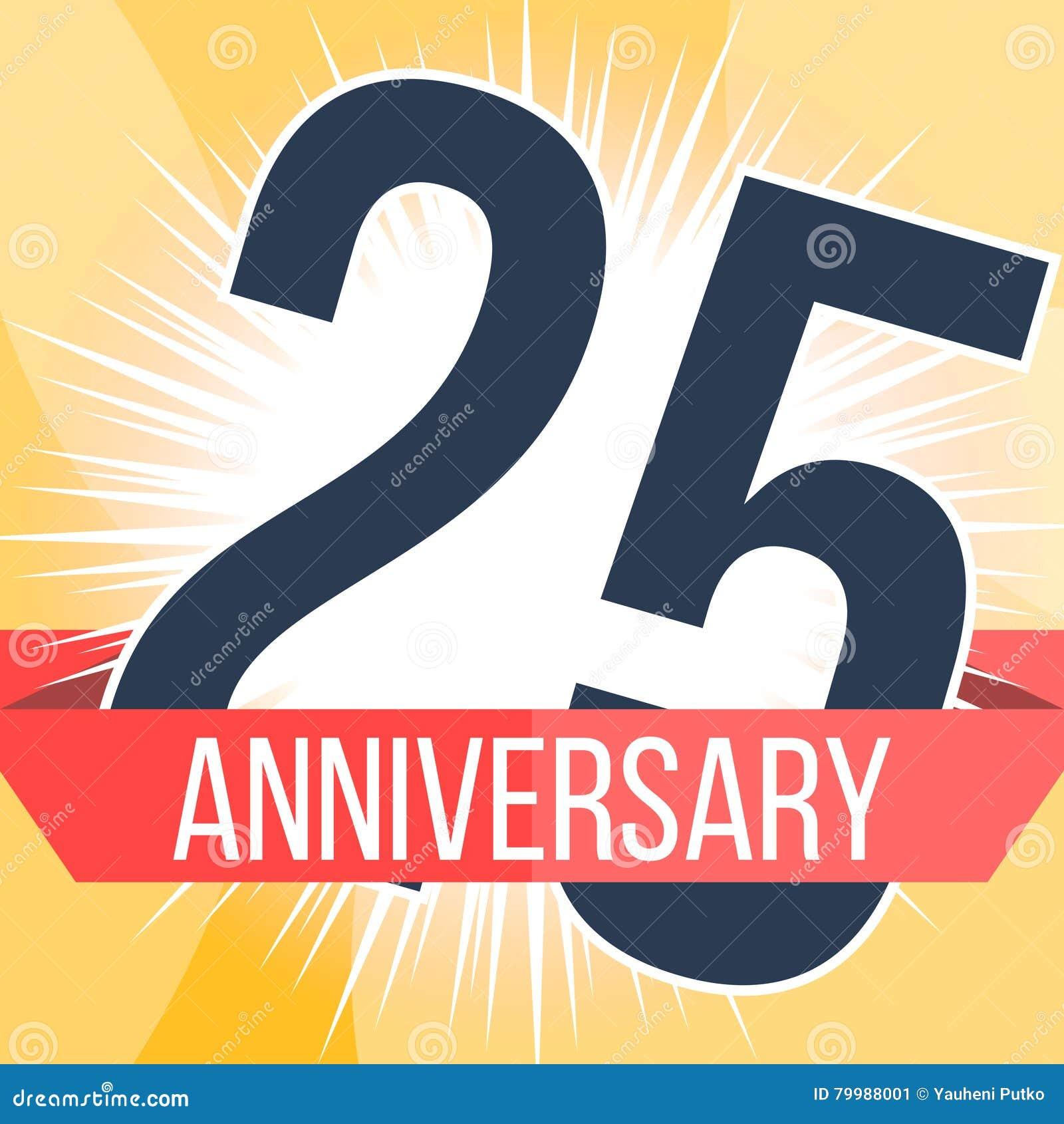 Twenty five years anniversary banner th