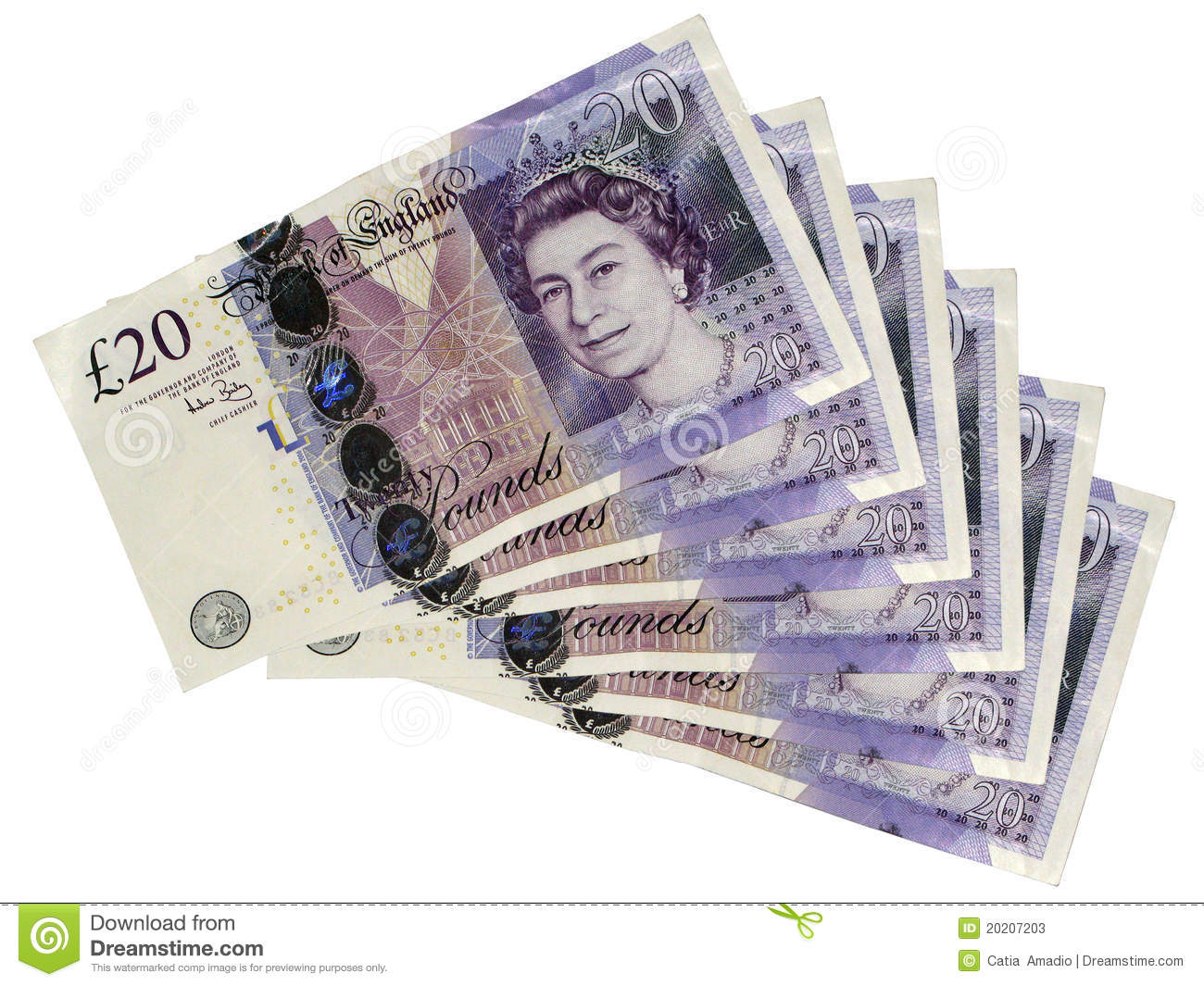 Twenty Pounds Stock Photos - Image: 20207203