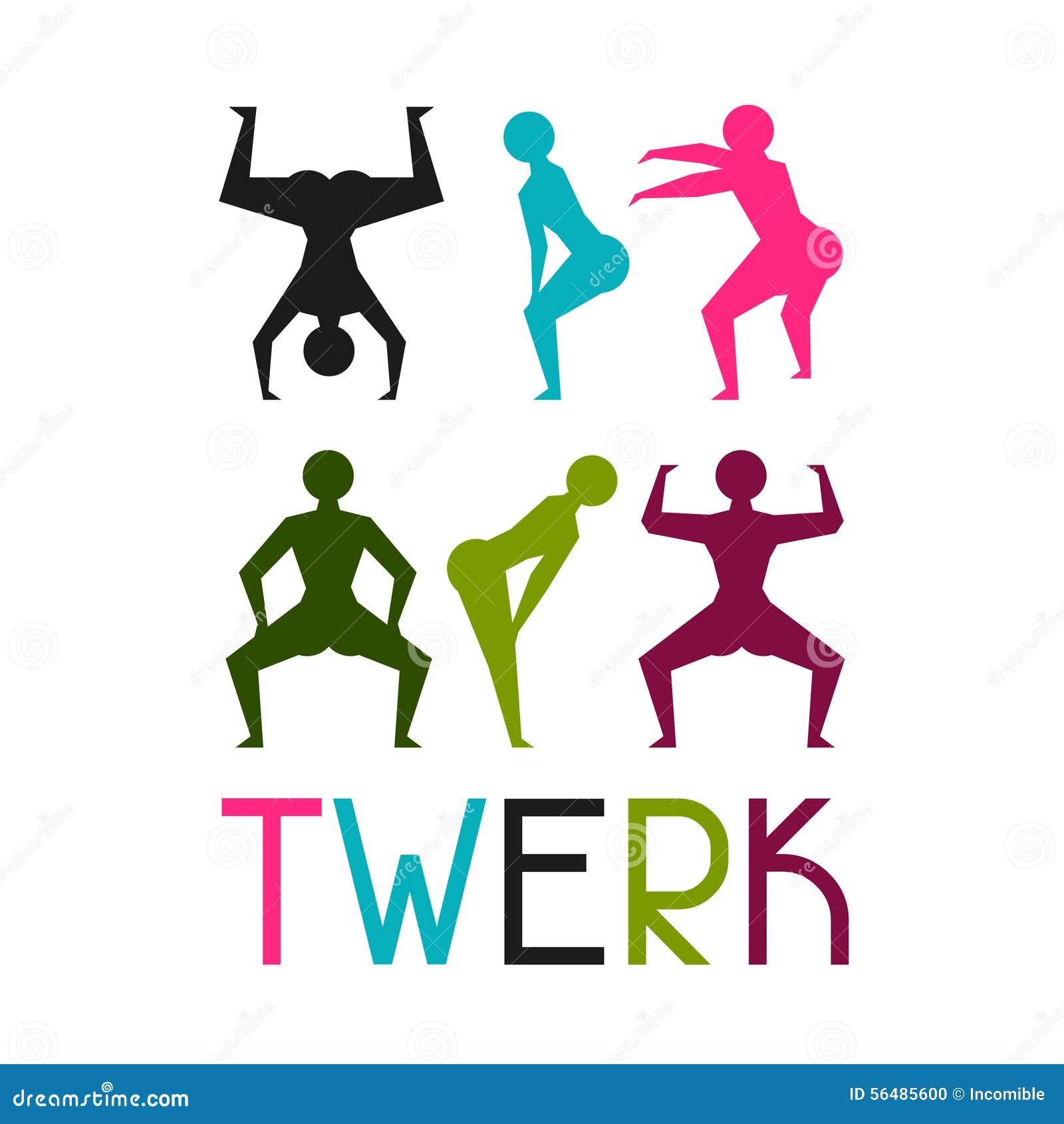 Twerk et fond de danse de butin pour la danse