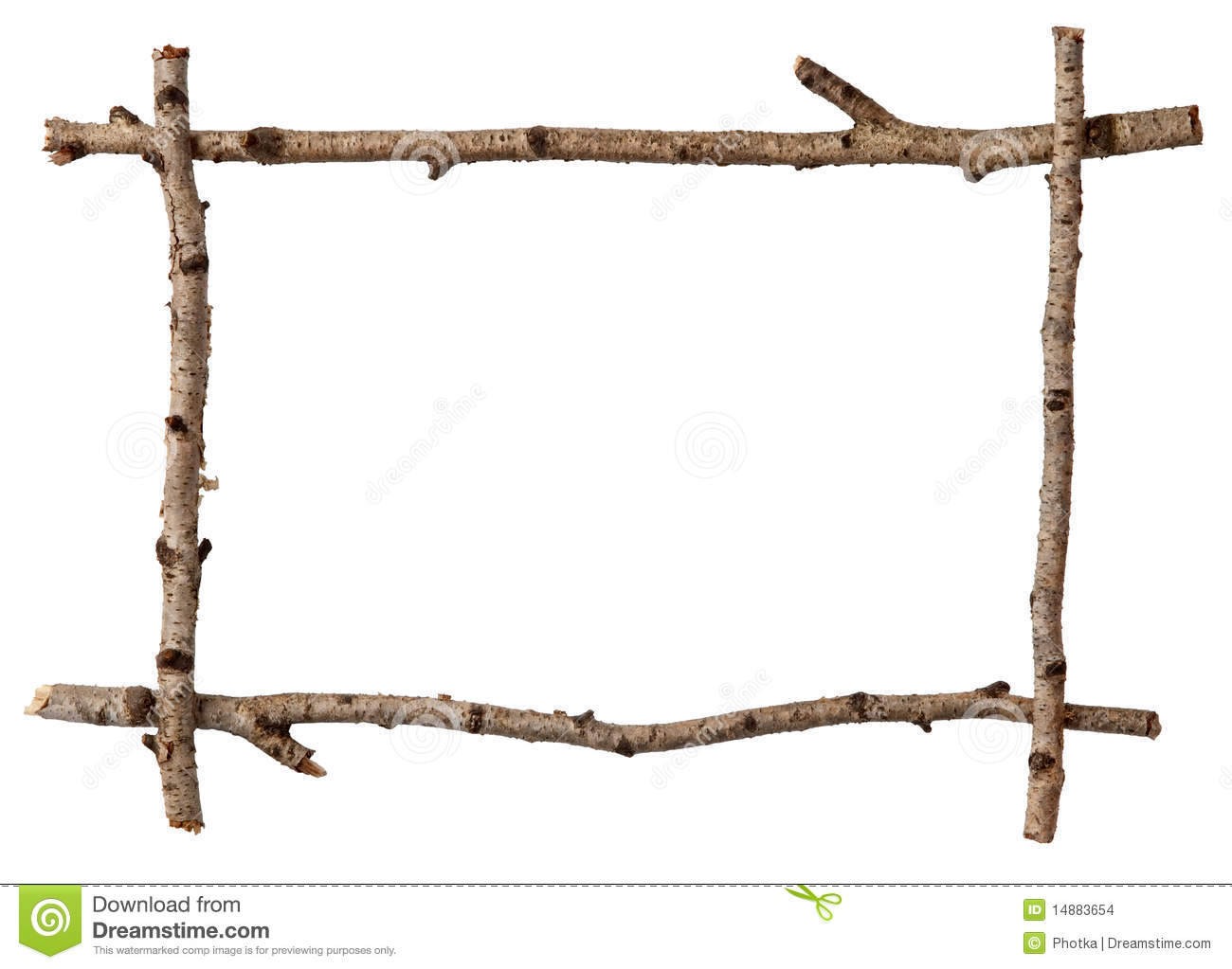 Twig Frame Stock Images - Image: 14883654