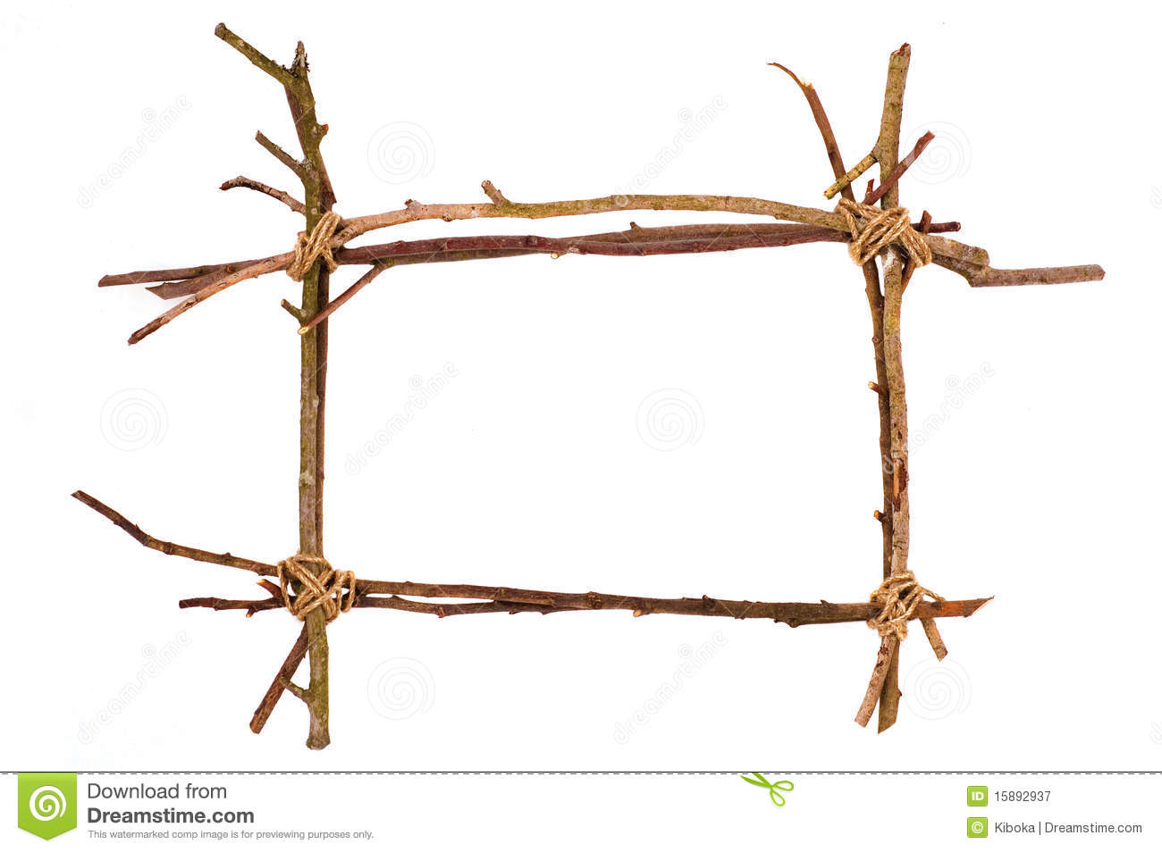 Royalty Free Stock Photography: Twig frame