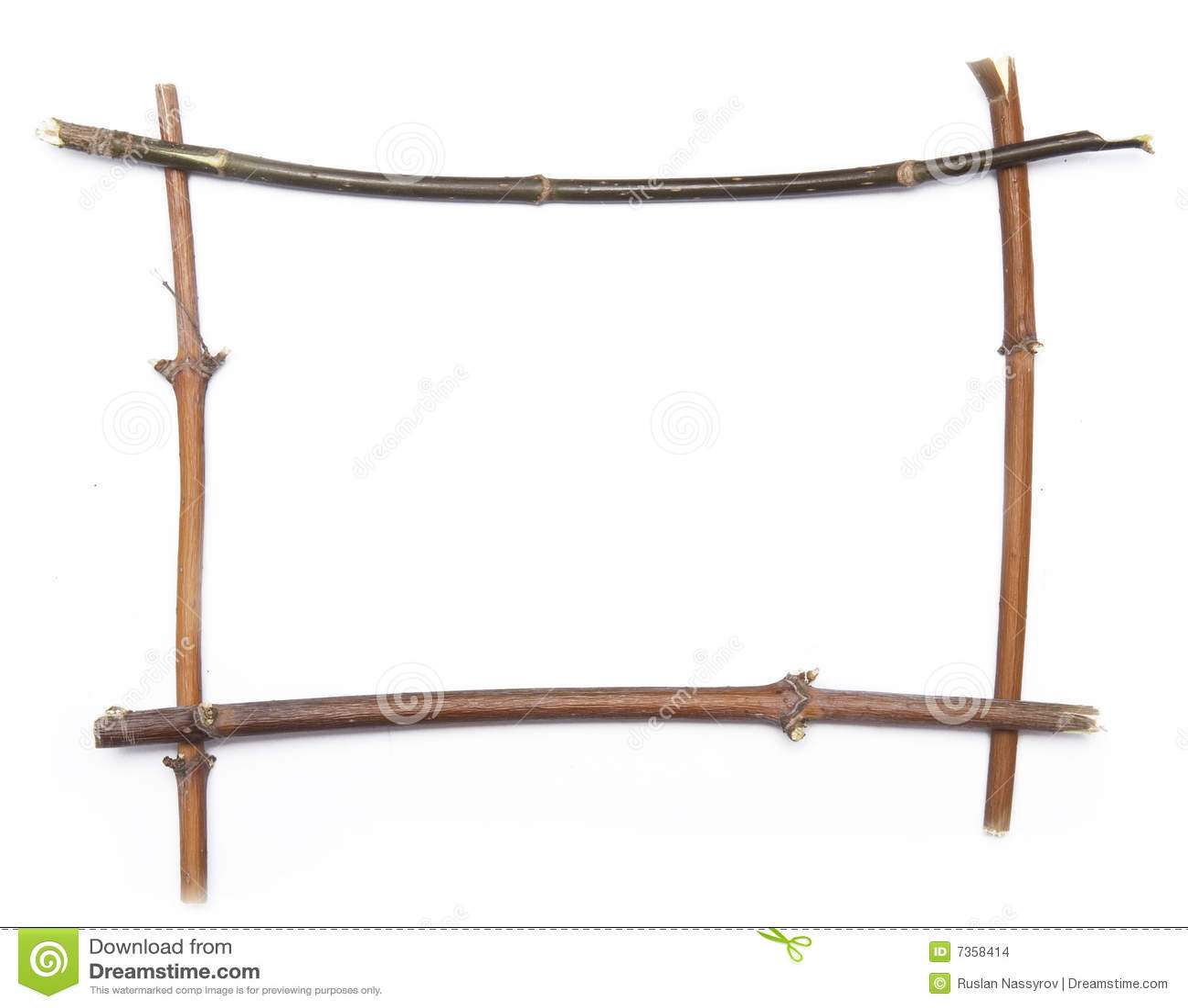 Twig Frame Stock Images Image 7358414