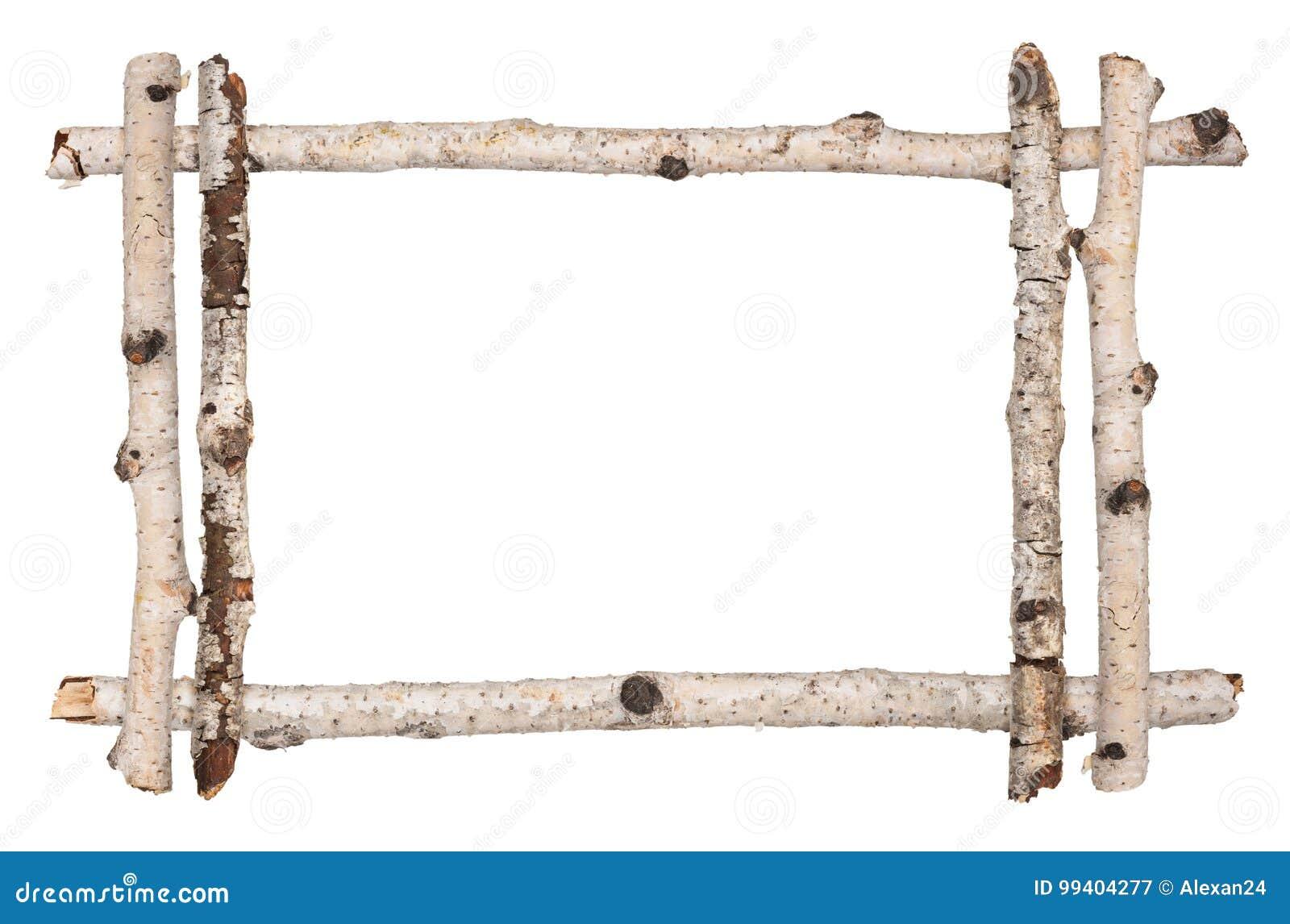 Twig frame of birch stock image. Image of tree, twig - 99404277