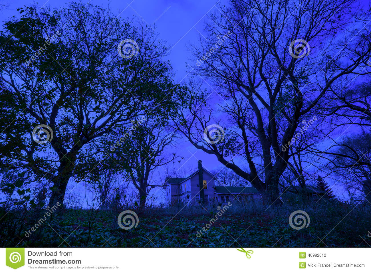 Spooky haunted house stock photo image 46982612 for Twilight house price