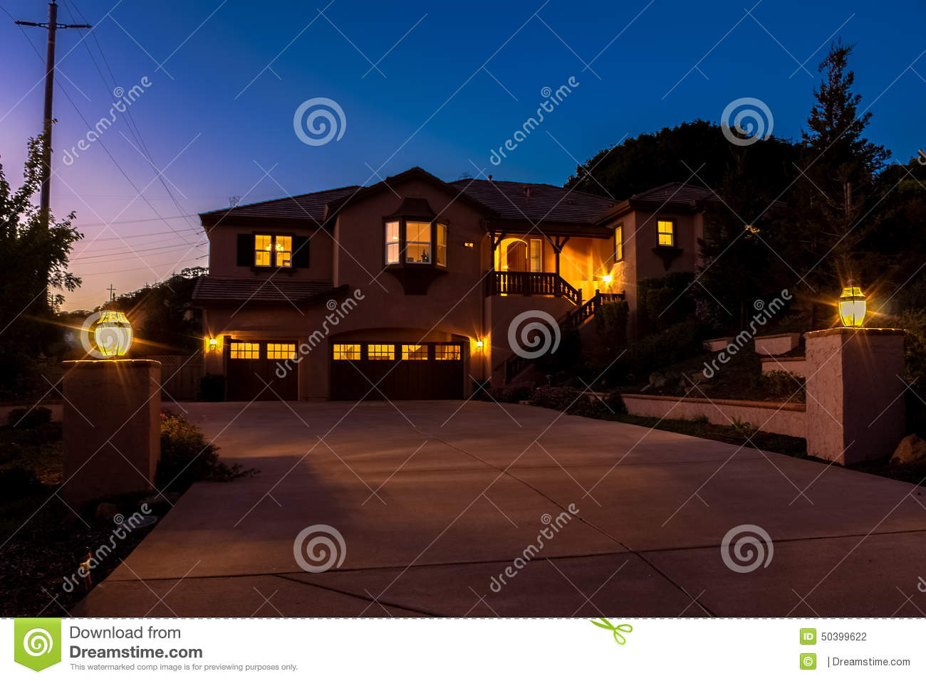 Twilight home stock photo image of real house estate for Twilight house price