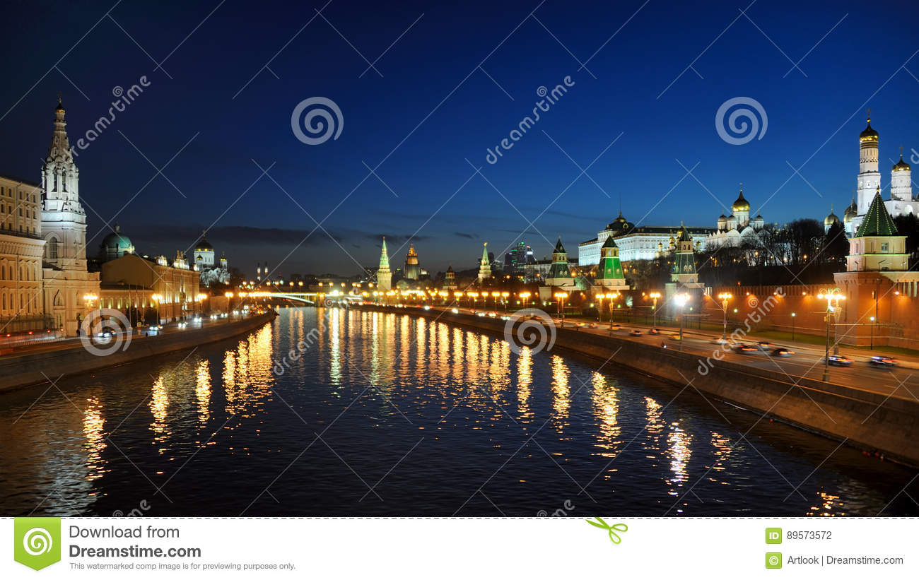 Twilight over the City of Moscow - Moscow by Night