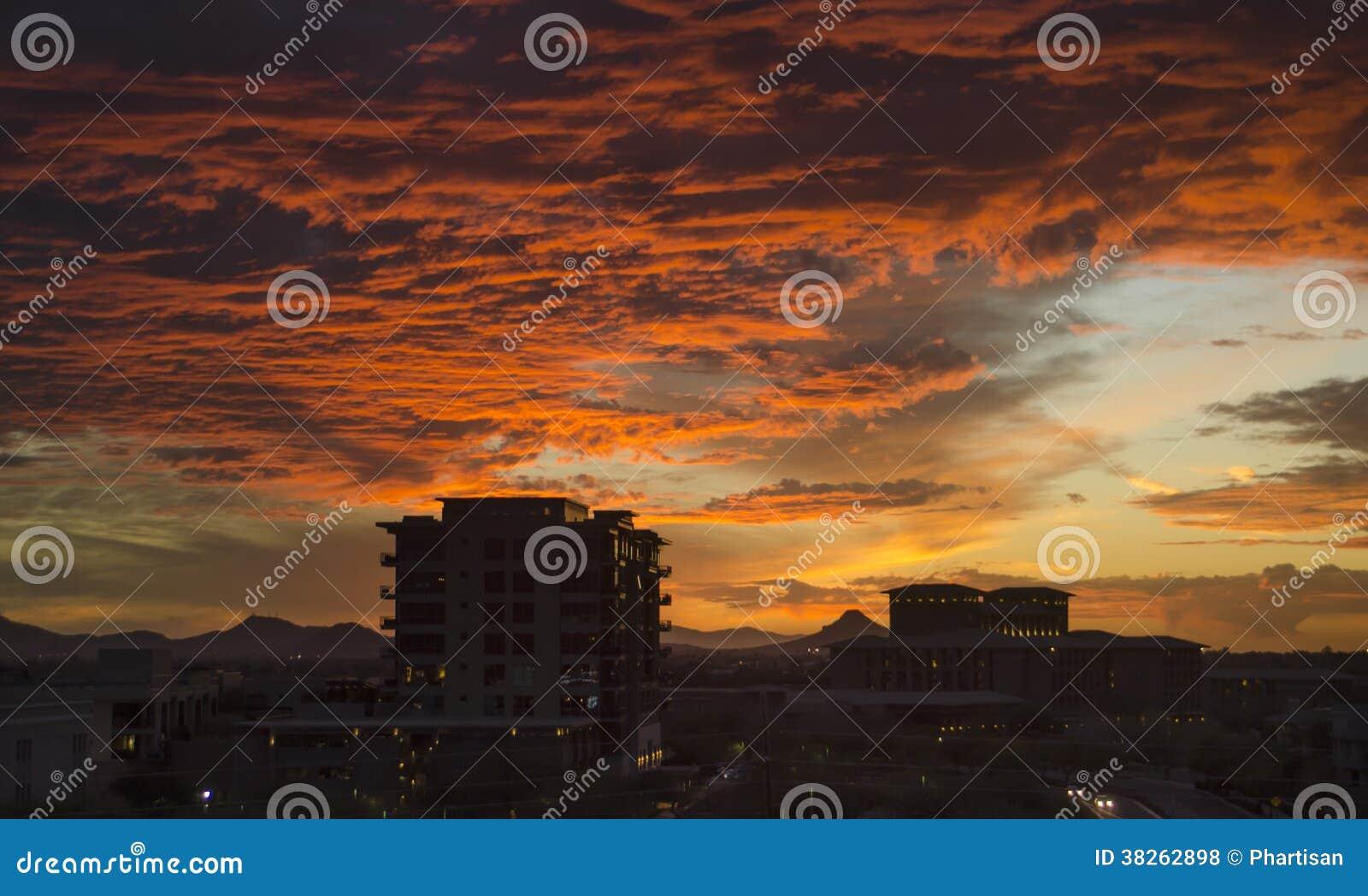 Twilight over North Scottsdale, Az,USA