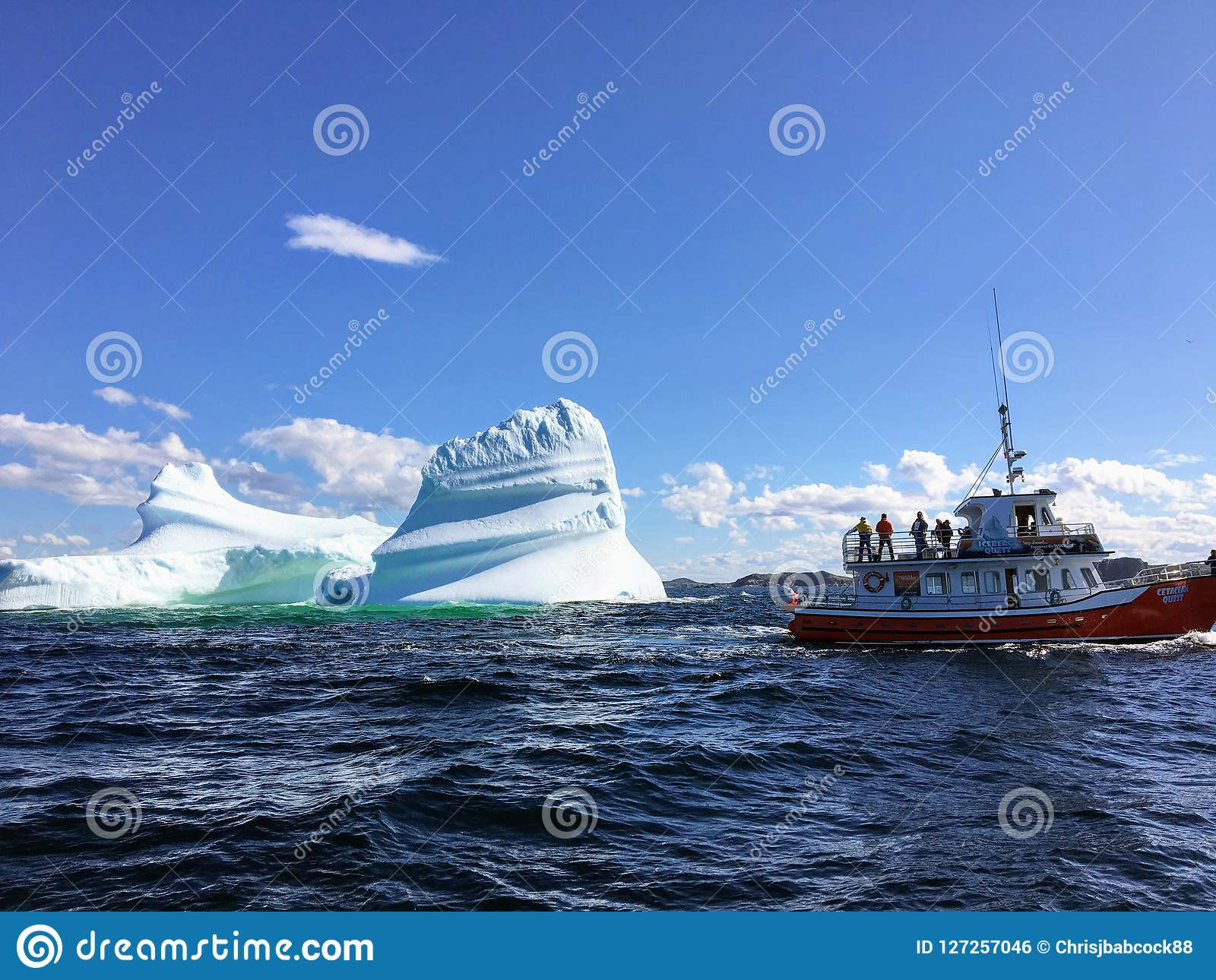 Twilingate, Newfoundland, Canada - July 23rd, 2017: A tour boat