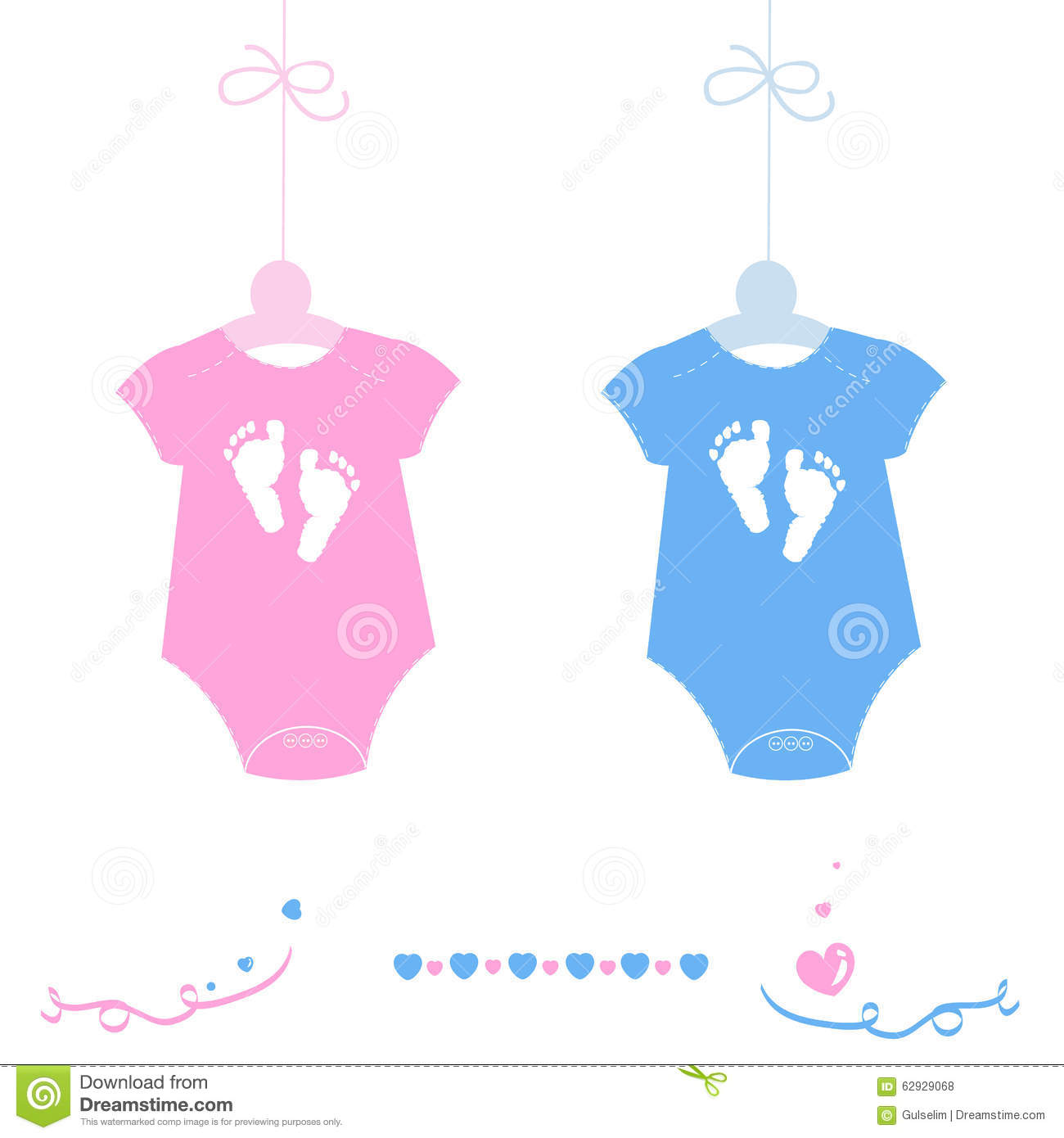 twin baby girl and boy baby body with feet prints arrival greeting