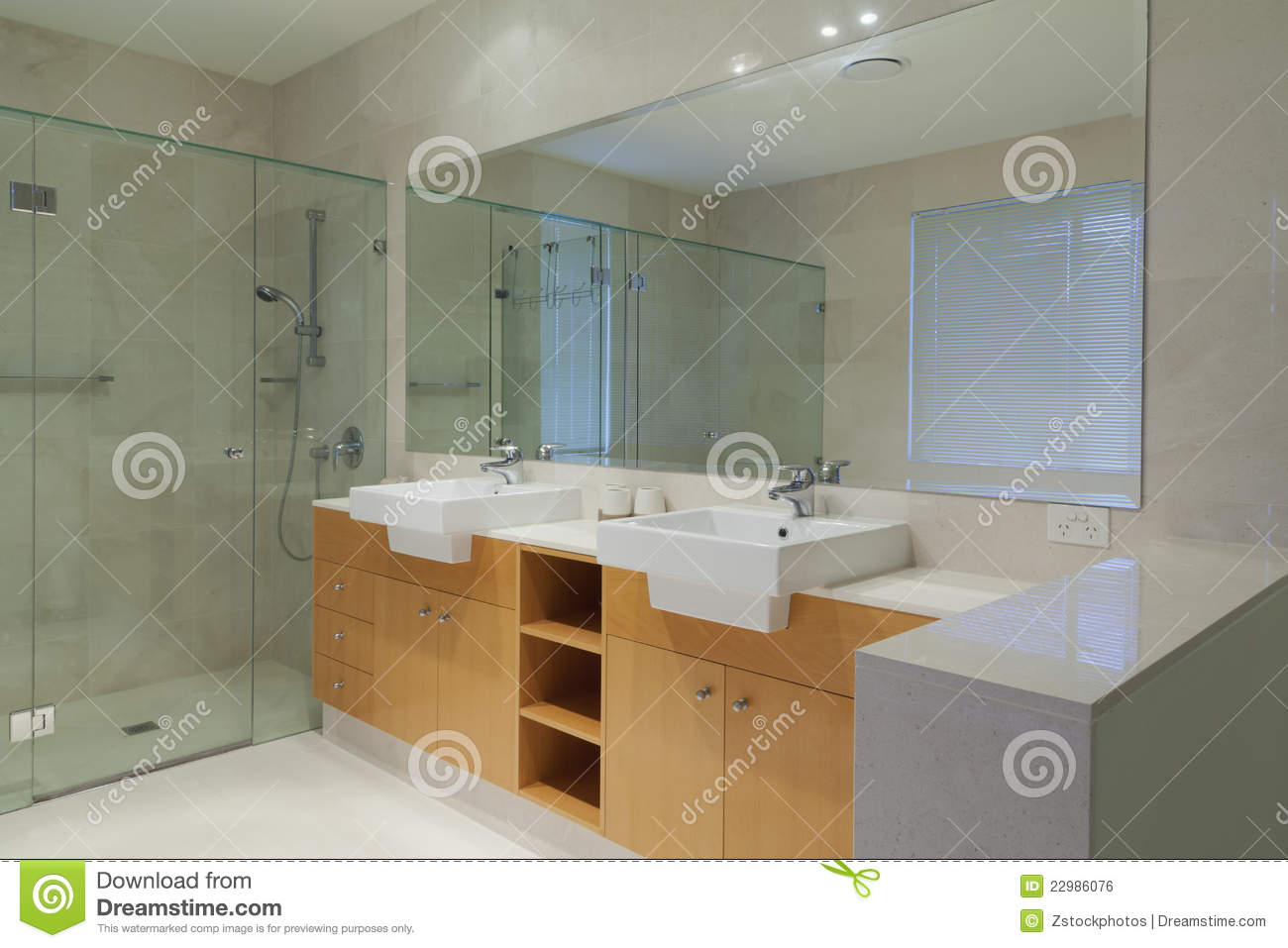 Twin Bathroom Royalty Free Stock Image - Image: 22986076