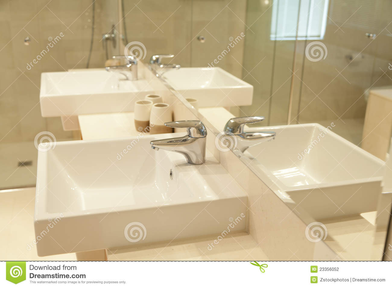Twin Bathroom Sinks Stock Photography - Image: 23356052