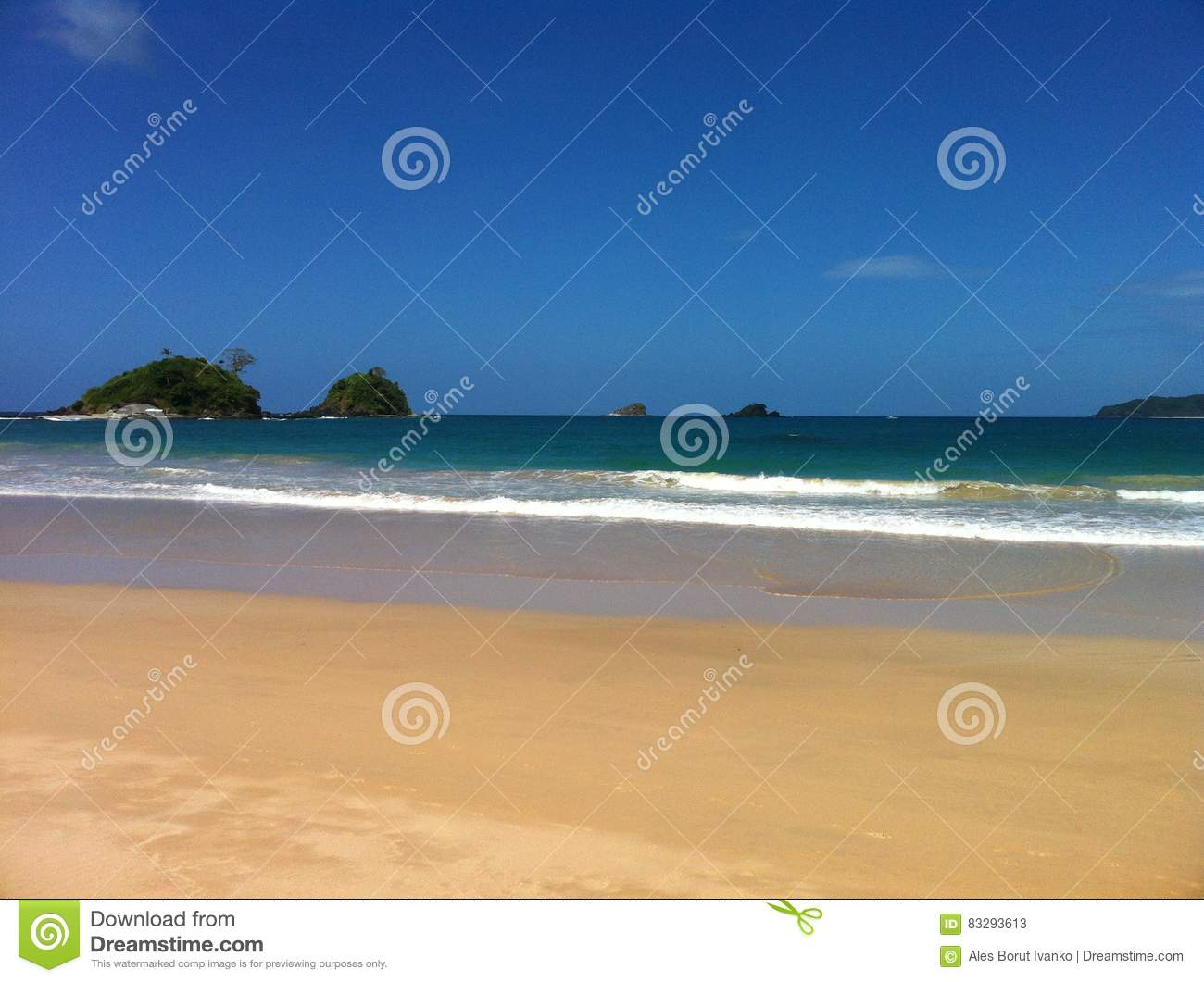 Twin beach and high waves