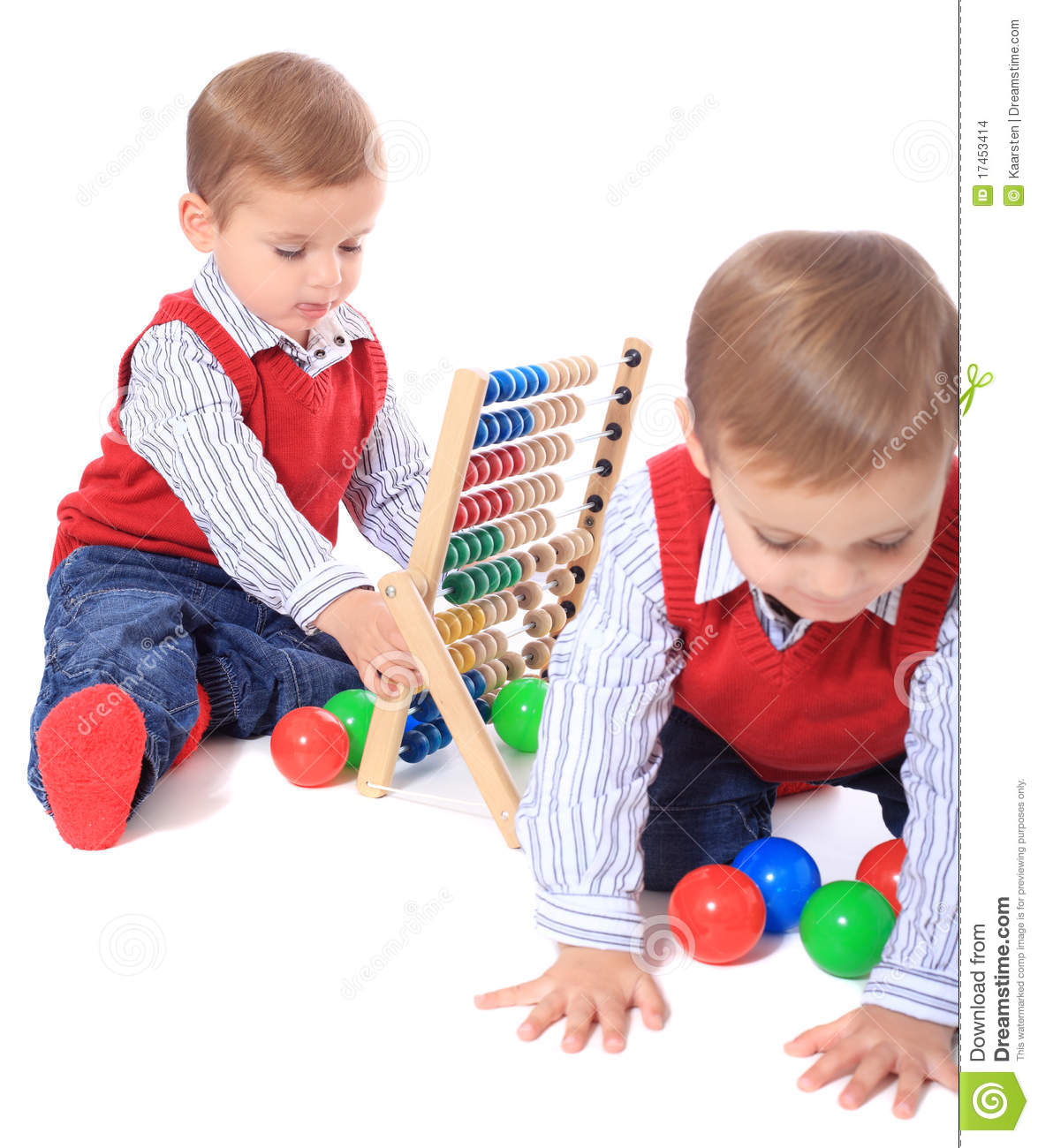 Toys For Brothers : Twin brothers playing with toys stock images image