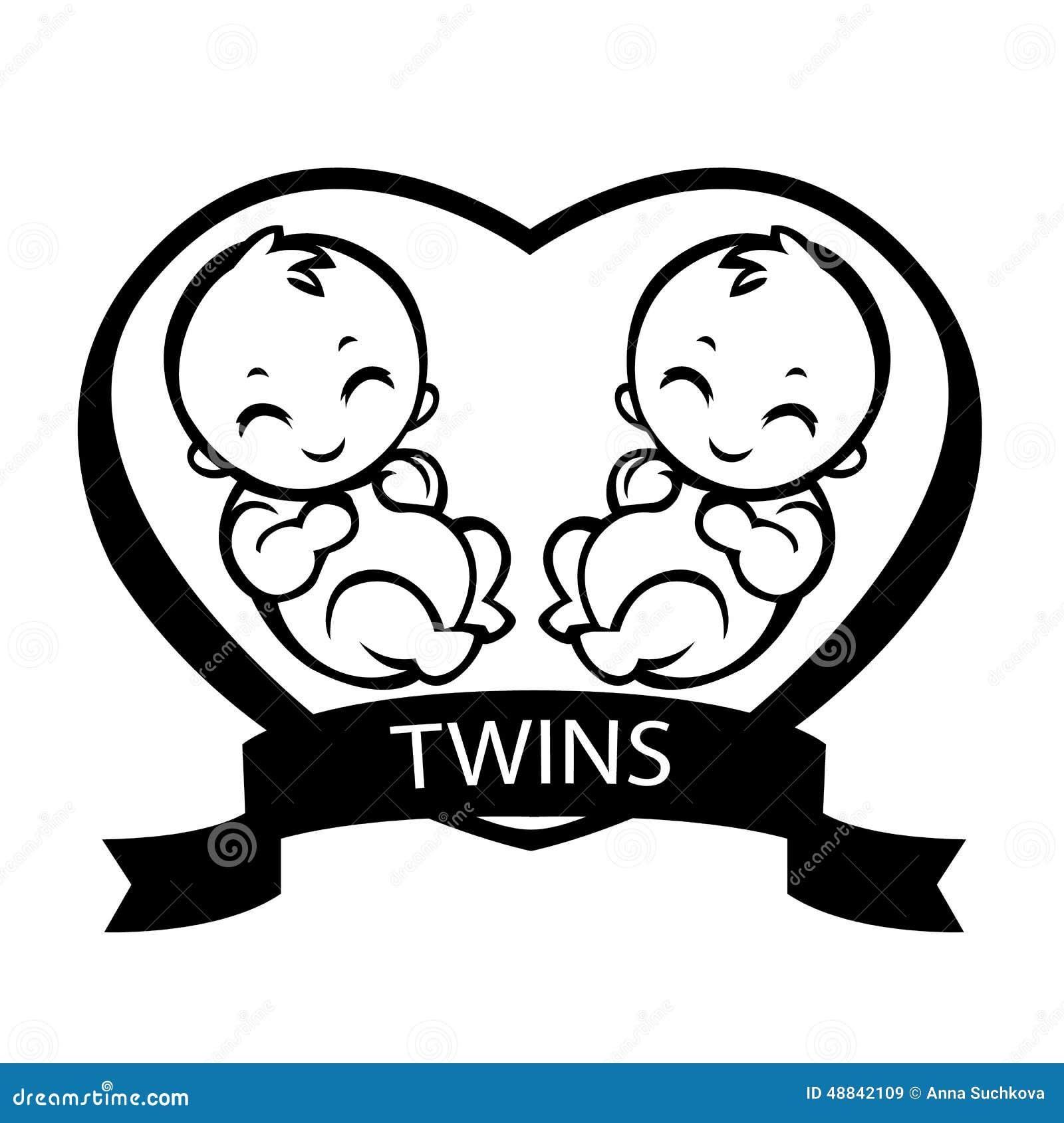 Twin Children Stock Vector - Image: 48842109