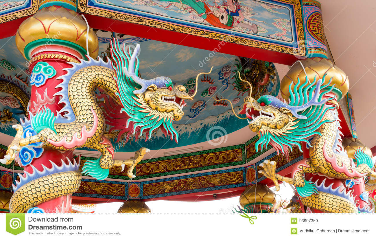 Twin Chinese dragons