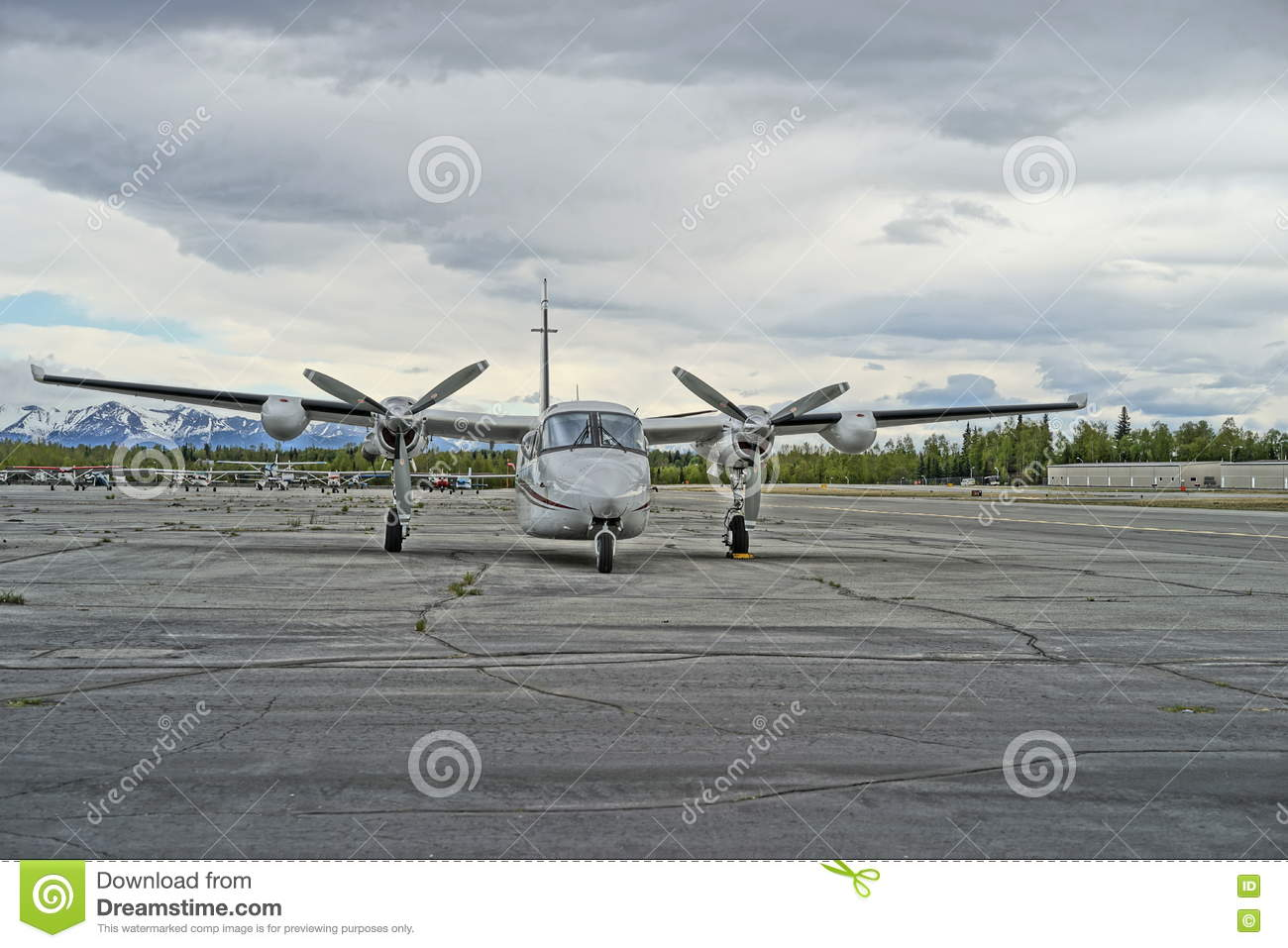 Twin engine turbo prop business plane