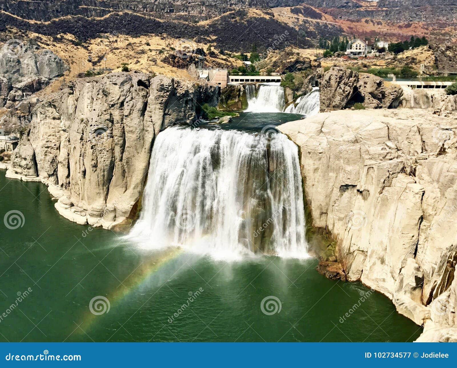 Twin Falls en el río Snake en Idaho