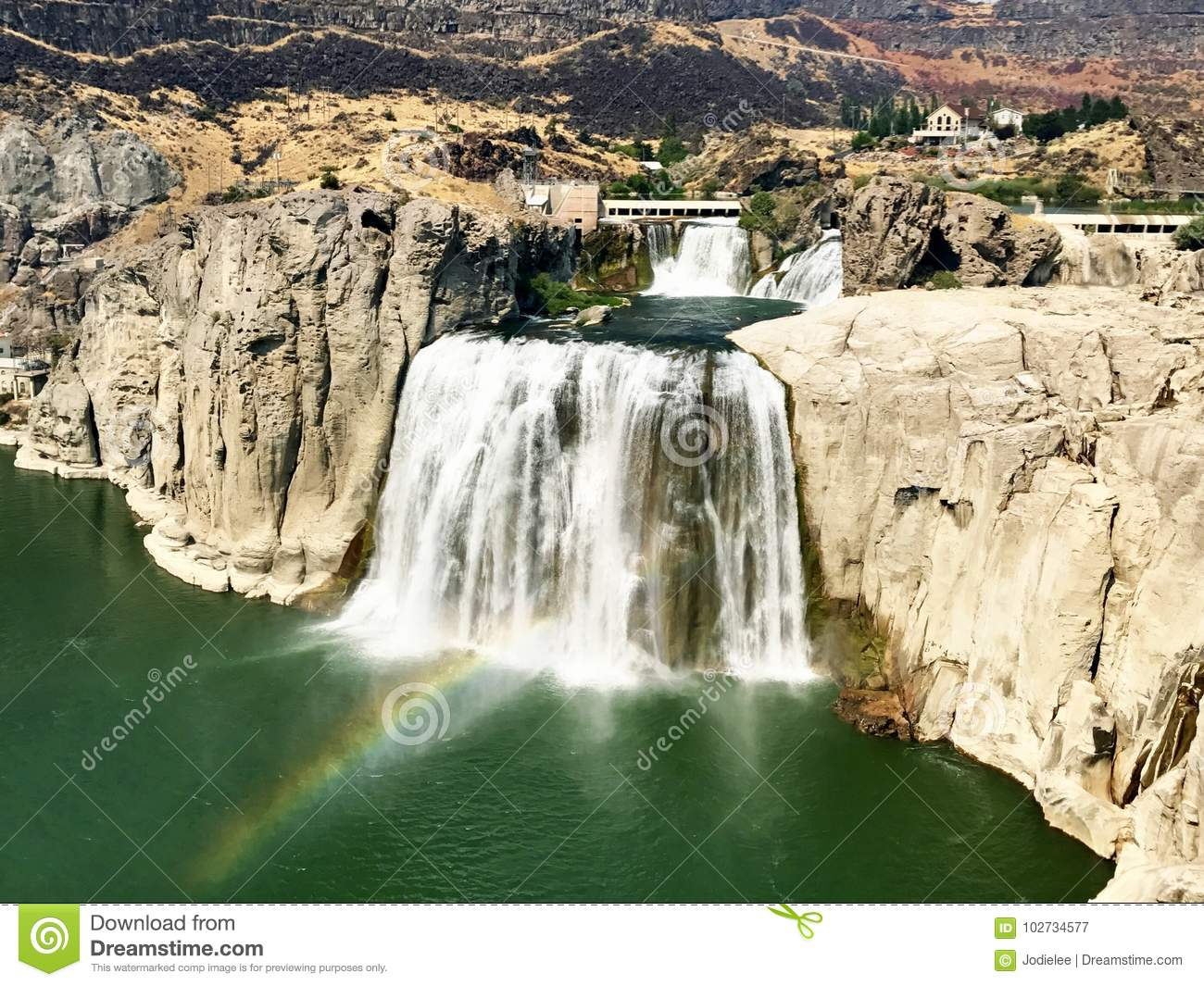 Twin Falls sul fiume Snake nell Idaho