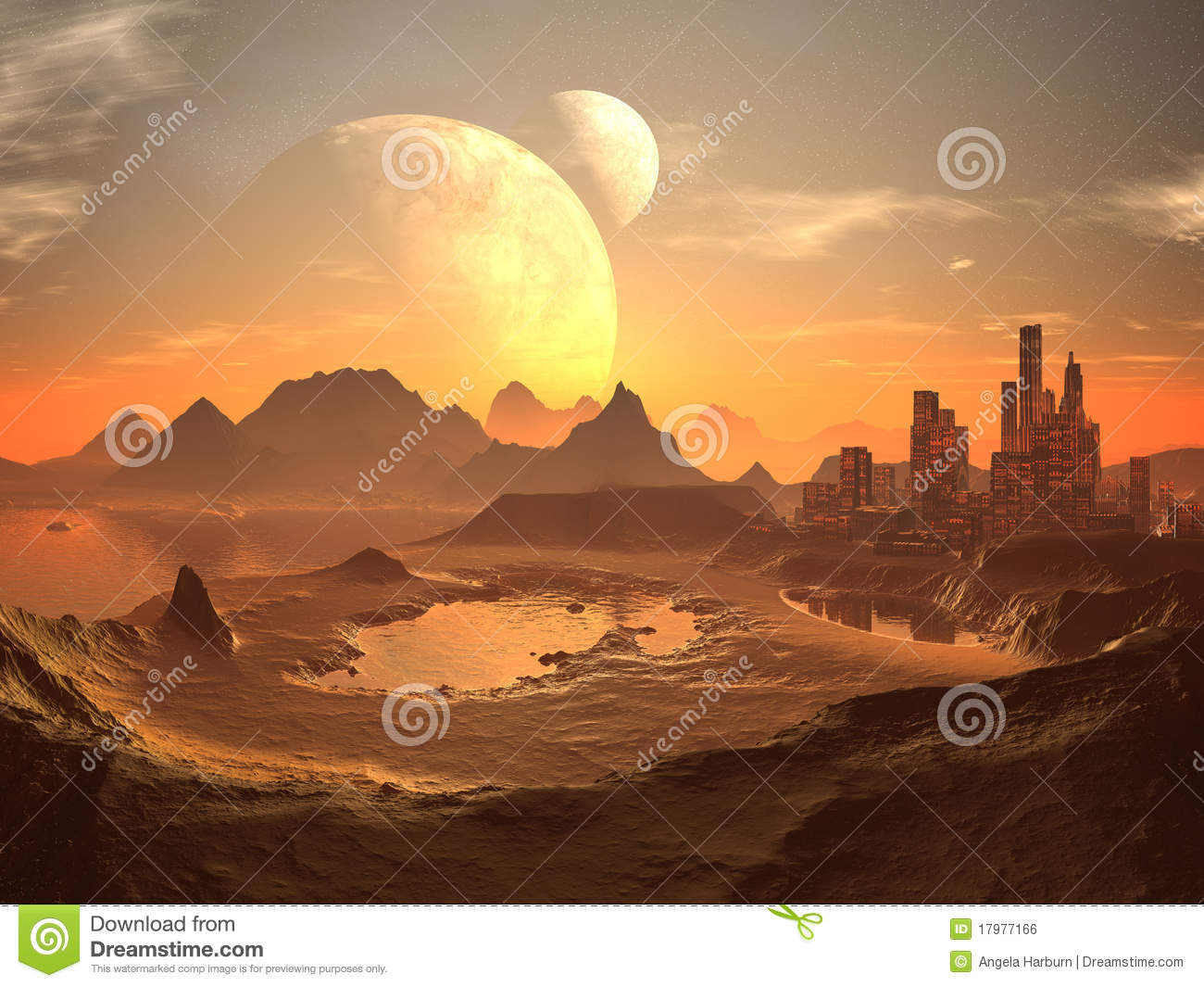 Sweet twins royalty free stock photo image 10320675 - Twin Moons Over Desert City With Pyramids Royalty Free Stock Image