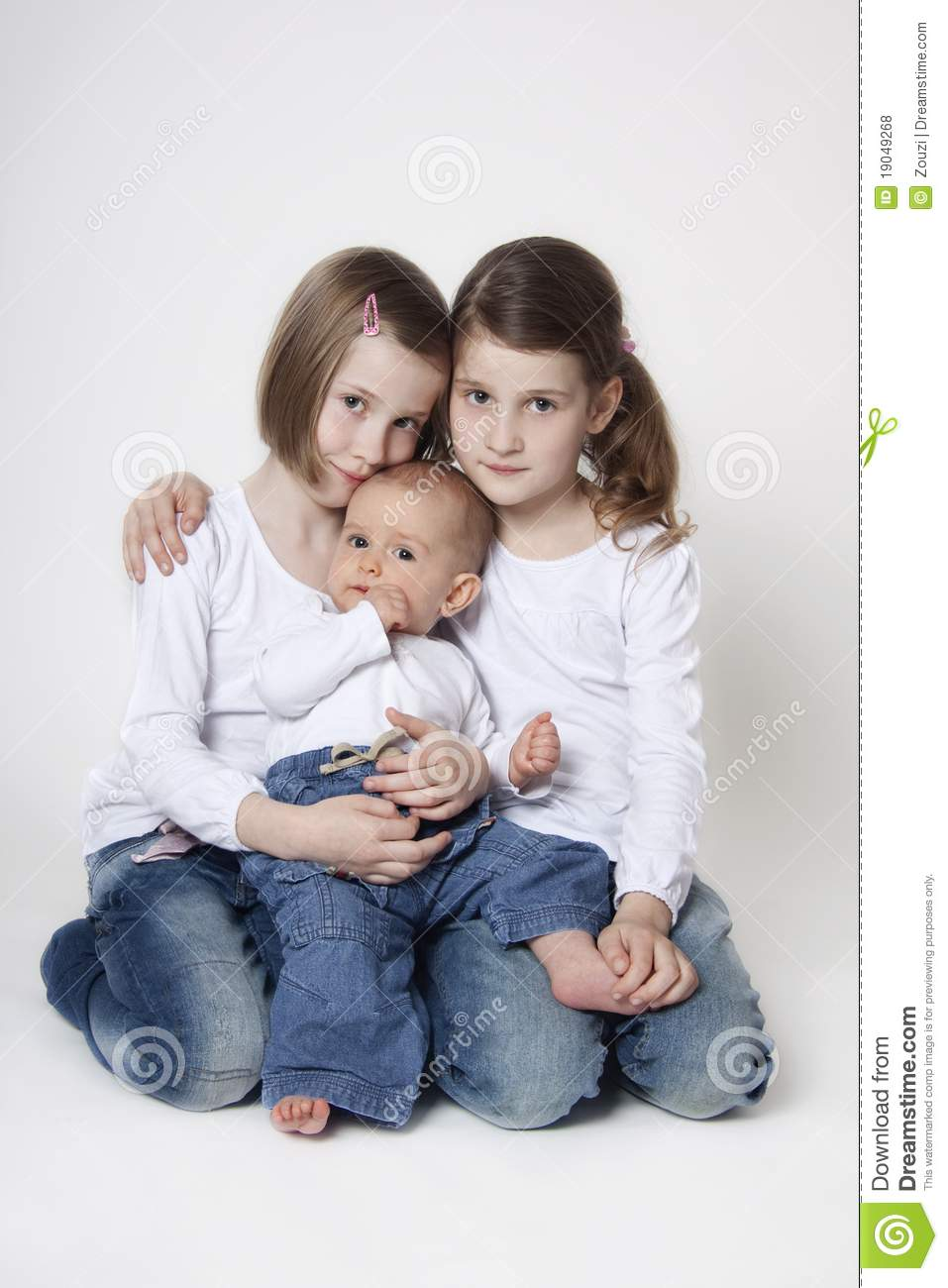 twin sisters with baby boy brother stock photo image of girl background 19049268. Black Bedroom Furniture Sets. Home Design Ideas