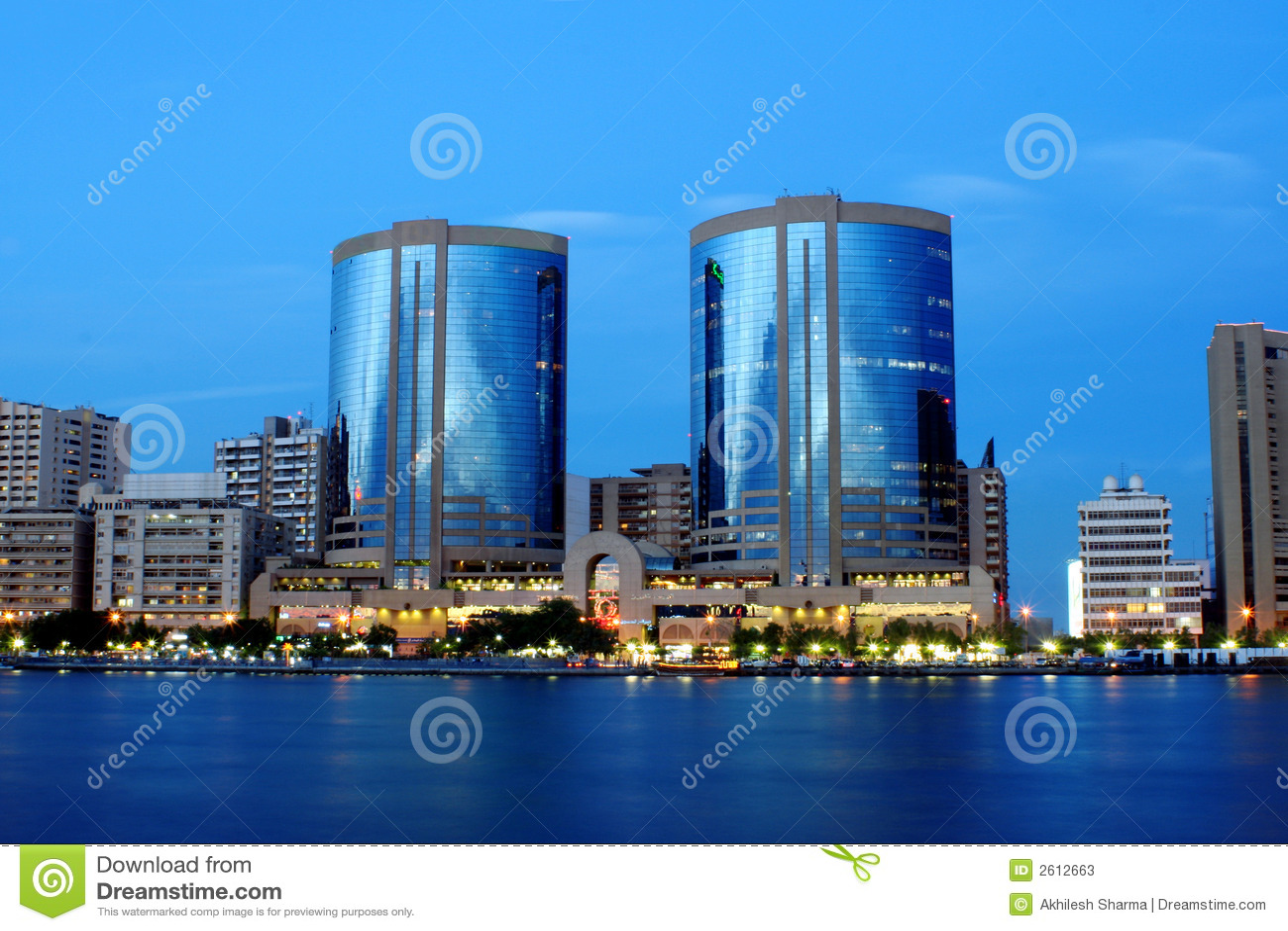 Twin towers, dubai creek, uae