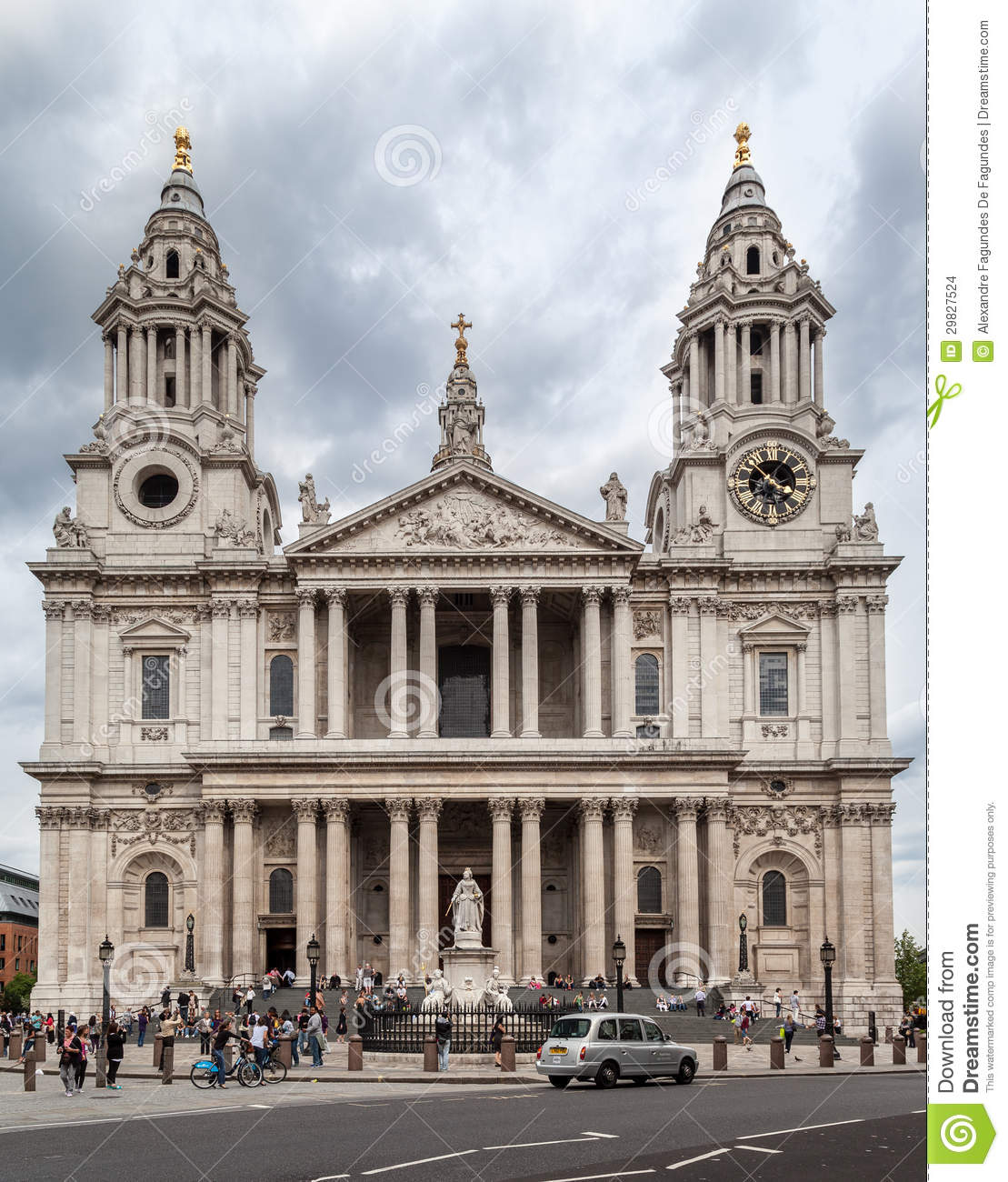 Saint Paul Cathedral Clock Tower Editorial Stock Image ...