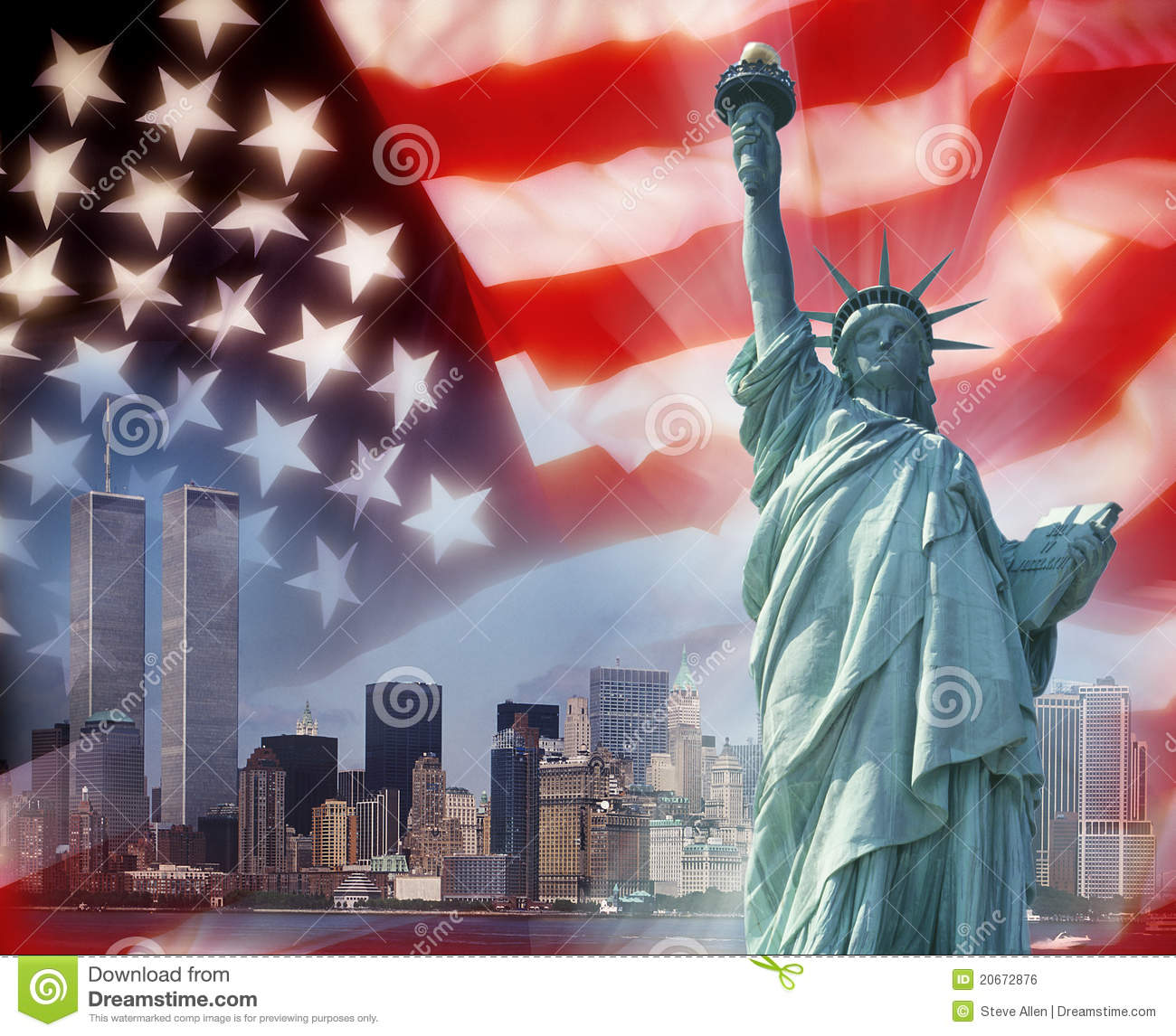 Twin towers new york patriotic symbols stock photo image of twin towers new york patriotic symbols buycottarizona Image collections