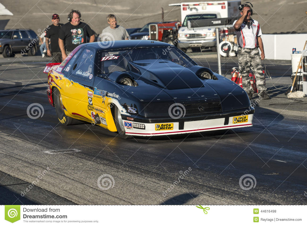 Twin turbo drag car editorial stock photo. Image of event - 44616498