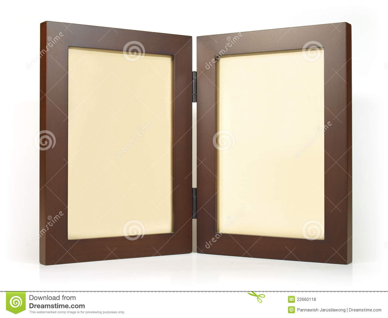 Twin wooden photo frame
