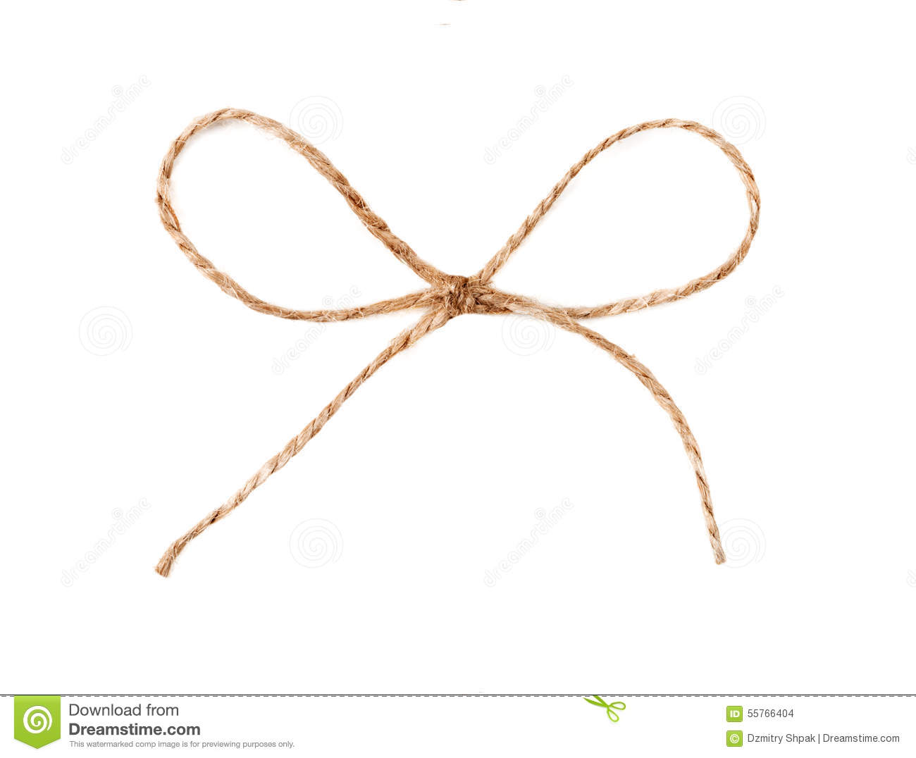 Twine String Tied In A Bow Isolated Stock Photo - Image ...