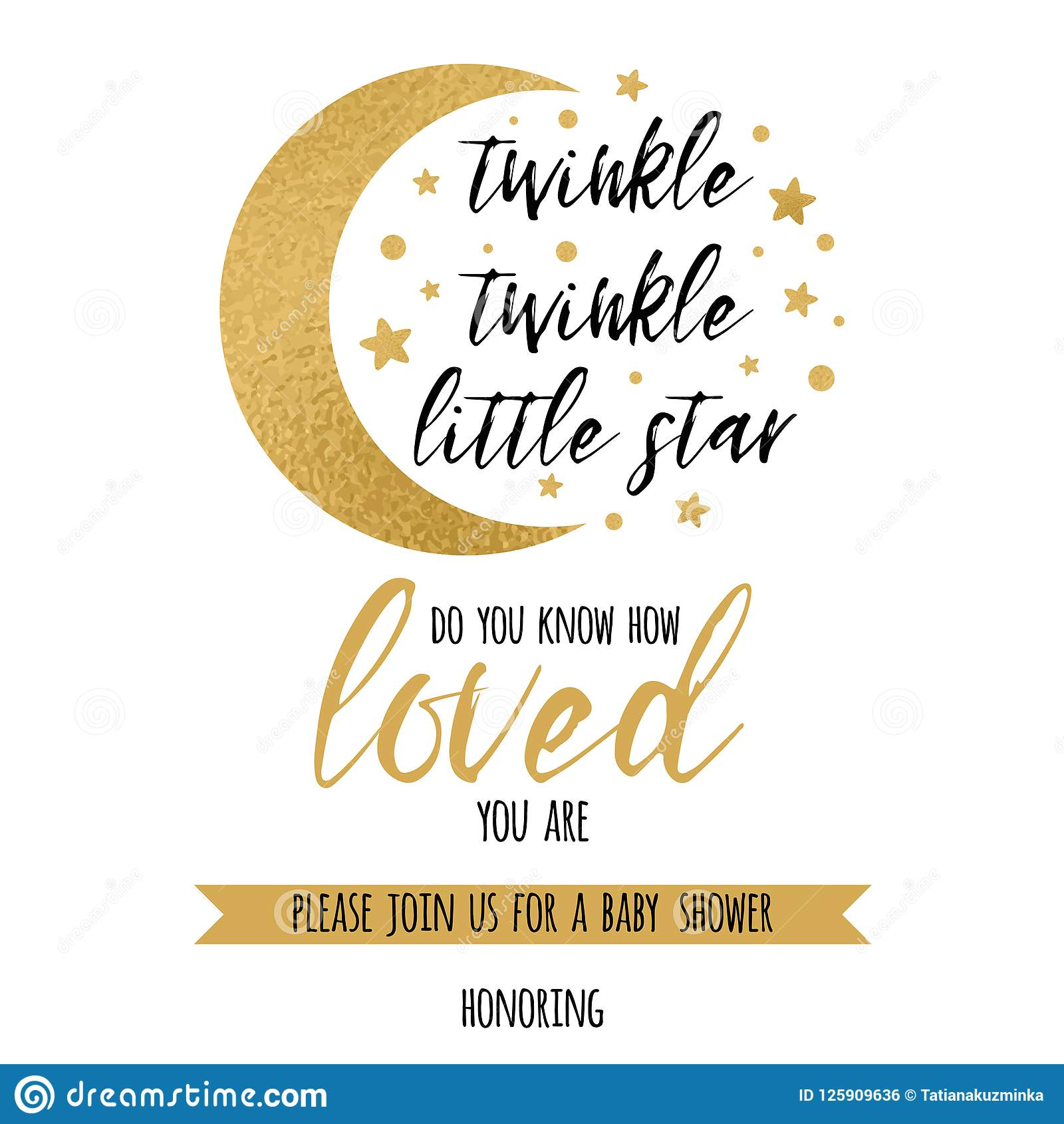 INSTANT DOWNLOAD Twinkle Twinkle Little Star Second Birthday Invitation PTTLS Gold Moon and Stars 2nd Birthday Invitation
