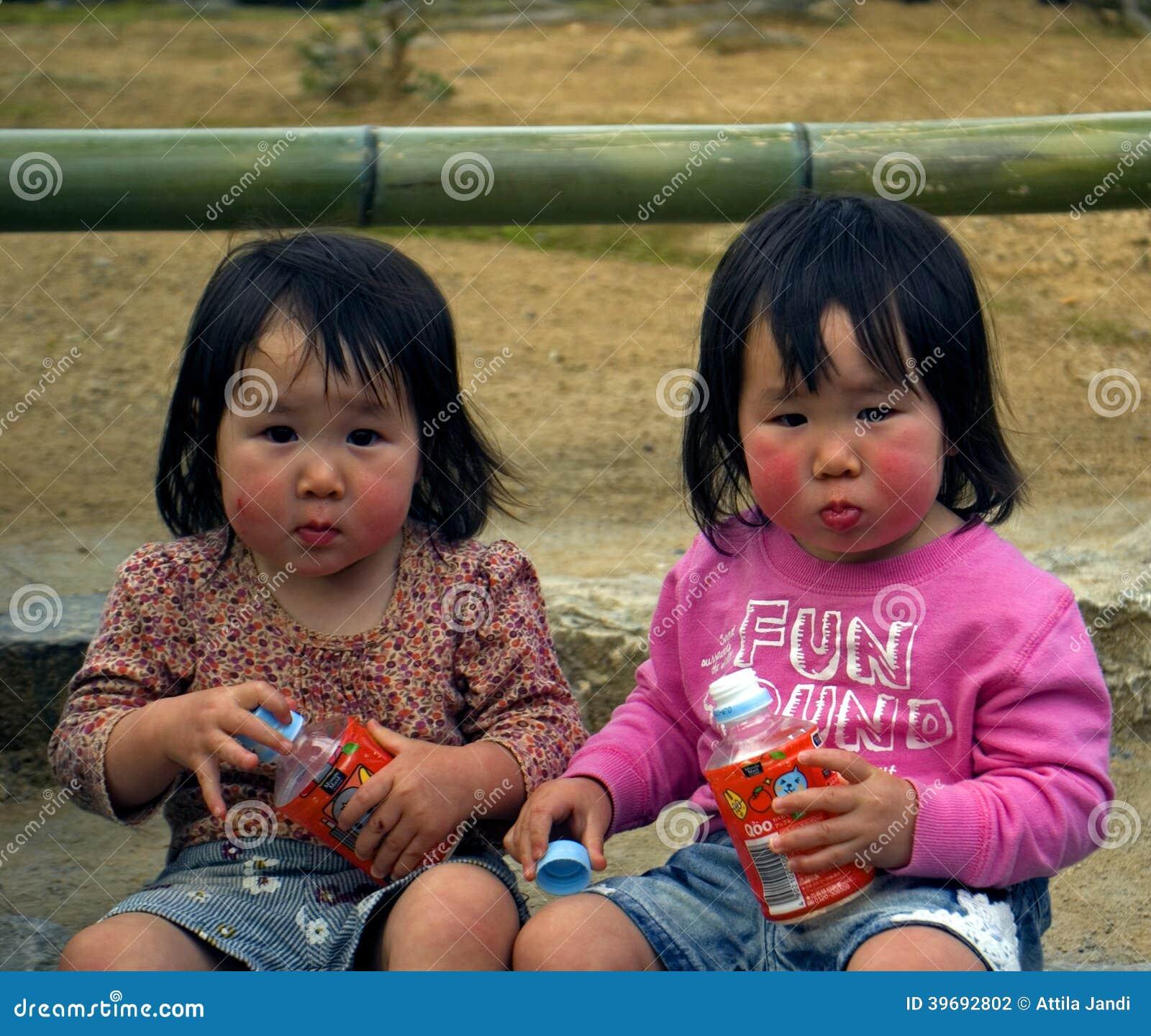 Japanese twins cum