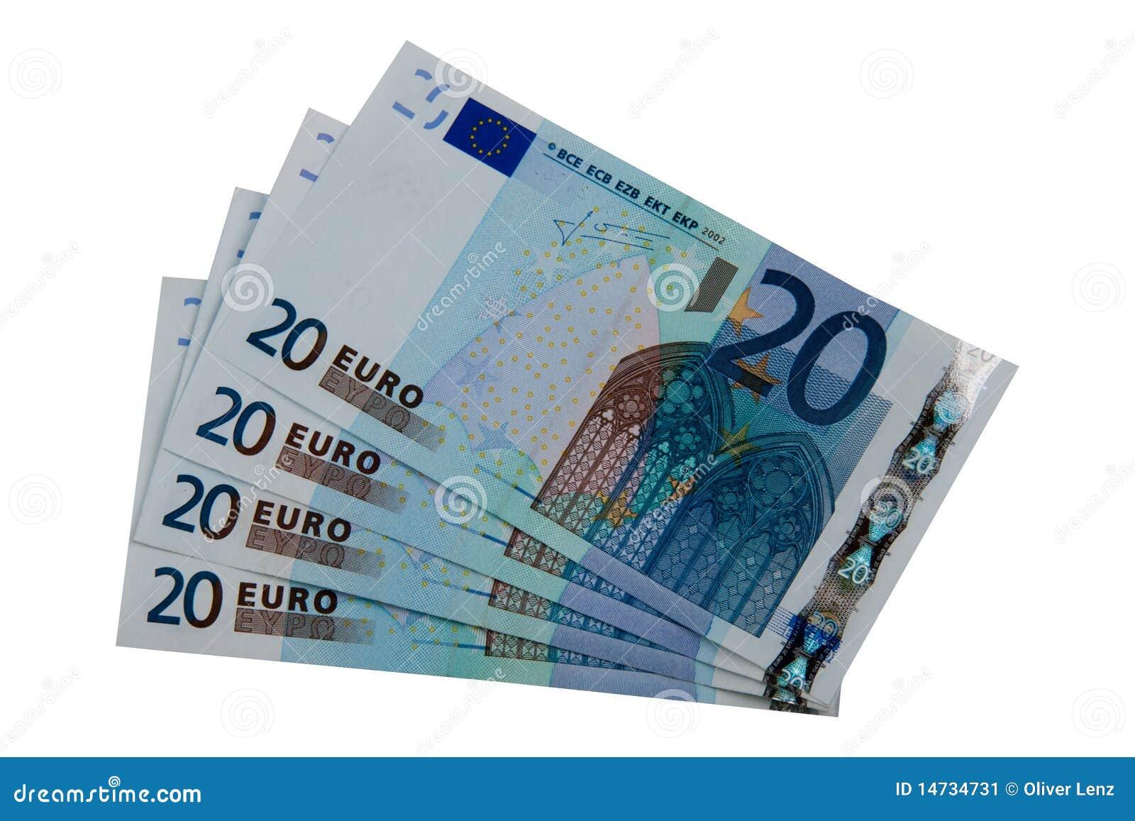 Twintig euro nota s