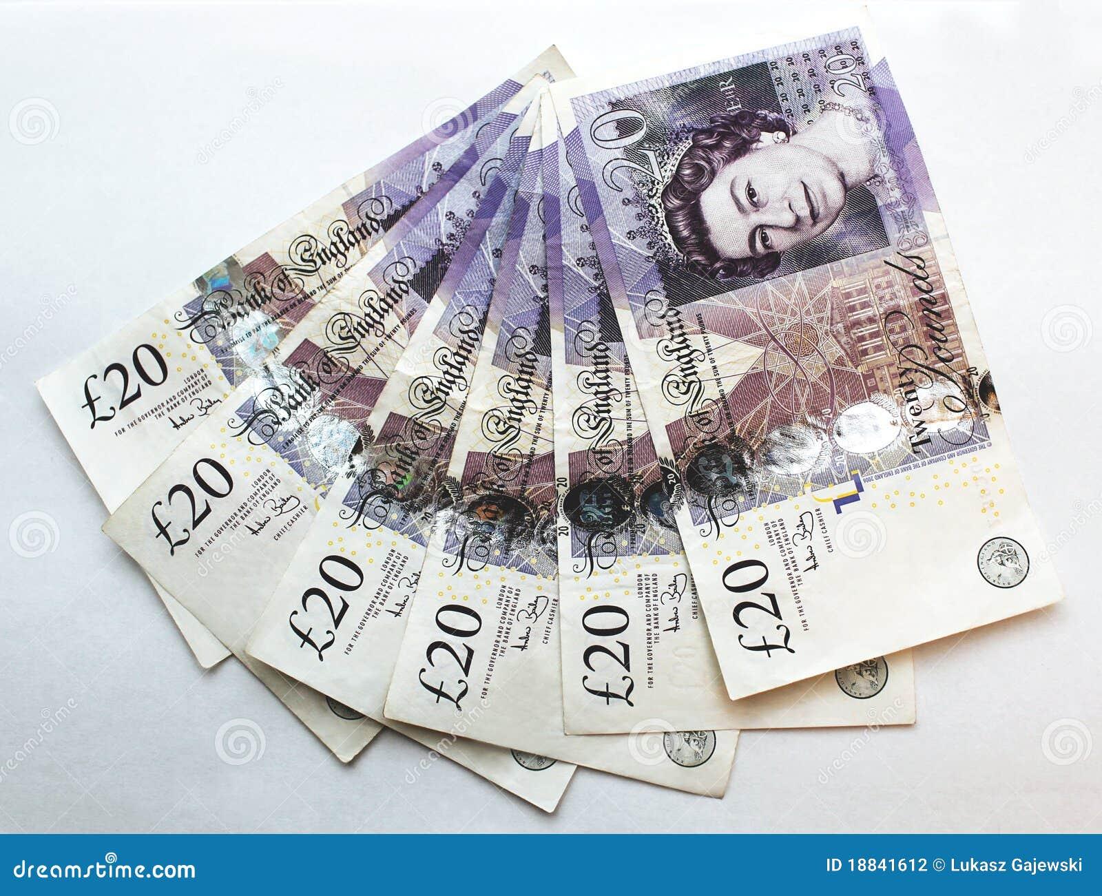 Twintig het Bankbiljet (van 20) Ponden