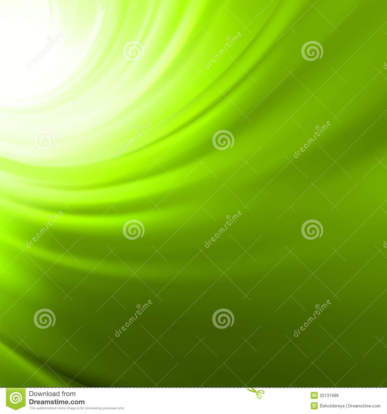 Twist background with green flow. EPS 8