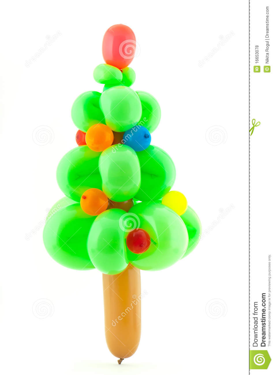 Twisted Balloon Christmas Tree