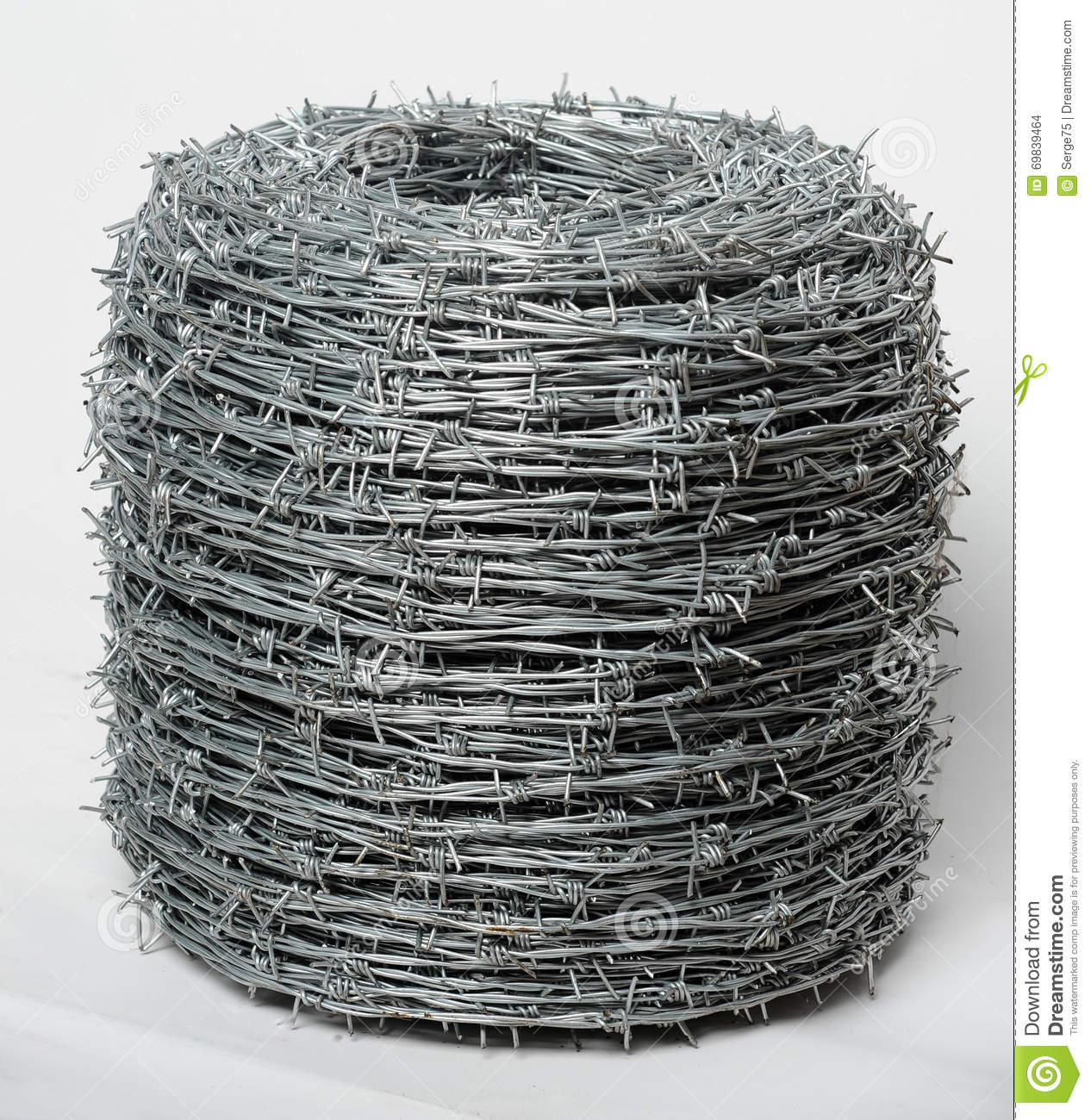 Twisted barbed wire stock photo image