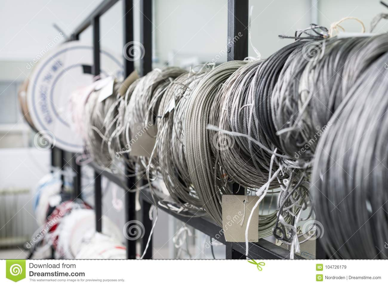 Twisted Coils Of Wire And Insulated Wire. Stock Image - Image of ...