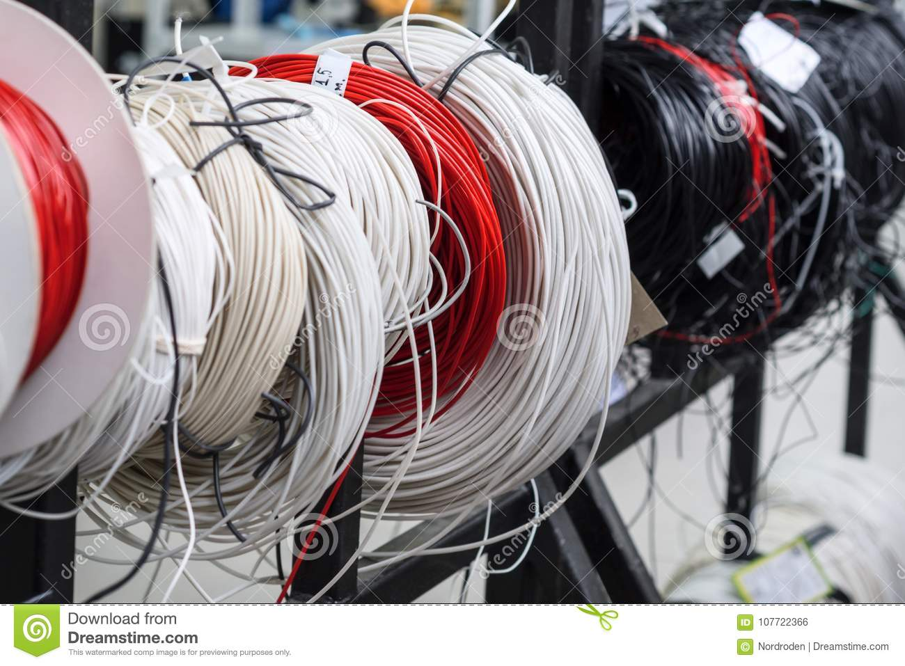 Twisted Coils Of Wire And Insulated Wire. Stock Photo - Image of ...