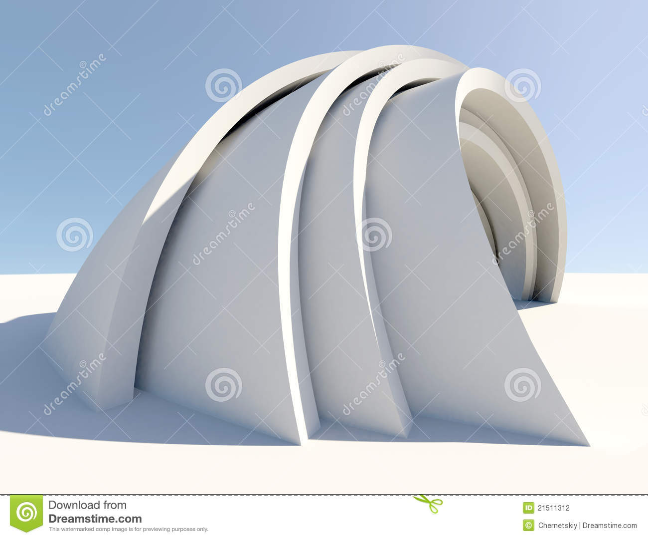 Twisted futuristic architecture form stock illustration for Form architecture