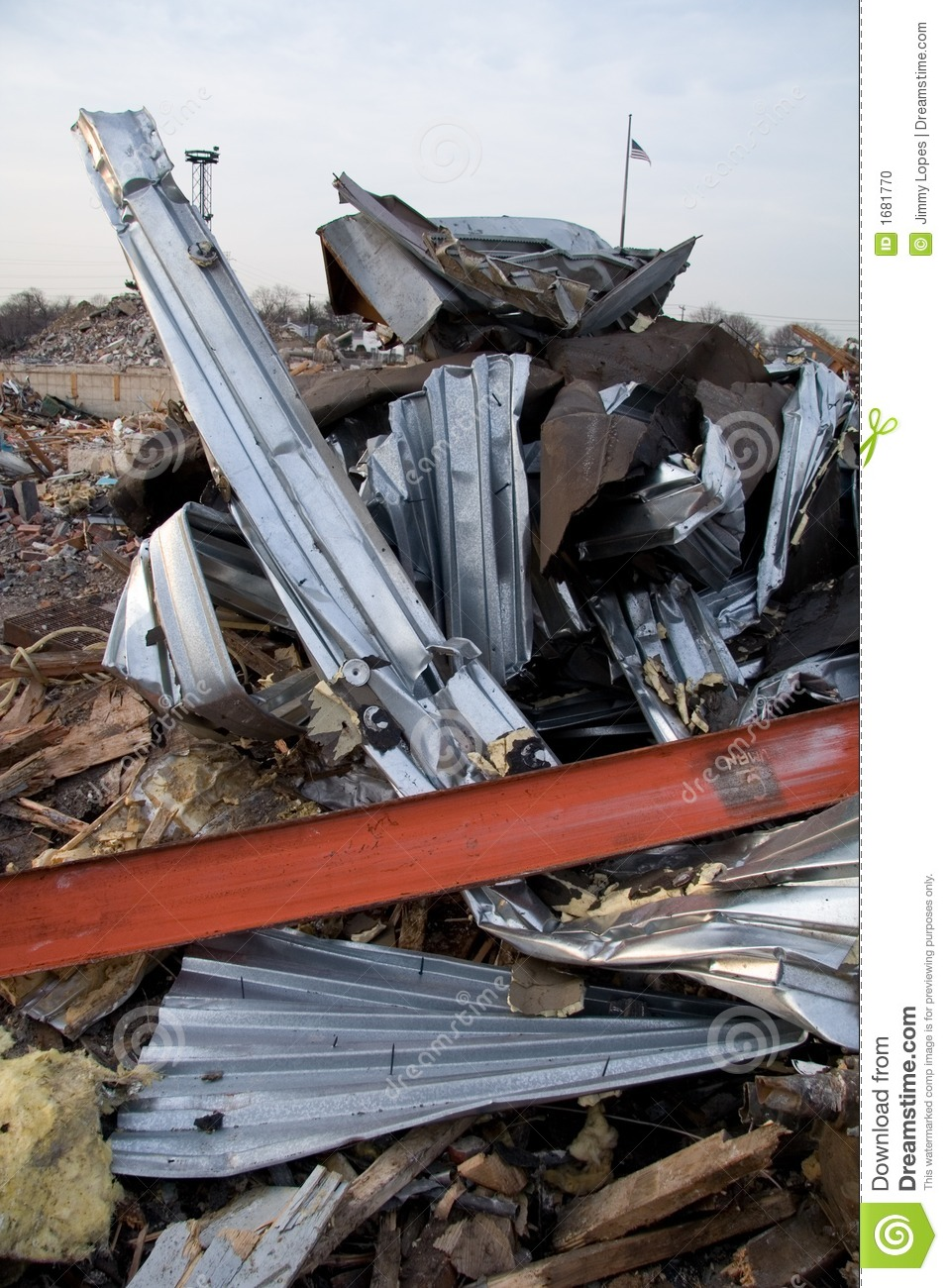 Twisted Metal From Destroyed Building Stock Photo Image