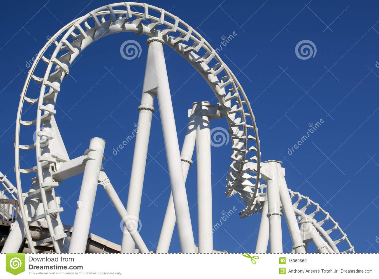 Twisted Rollercoaster Track