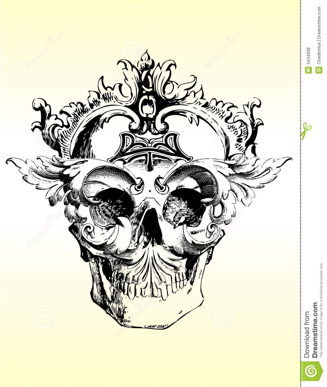 Twisted skull illustration stock vector. Image of ...