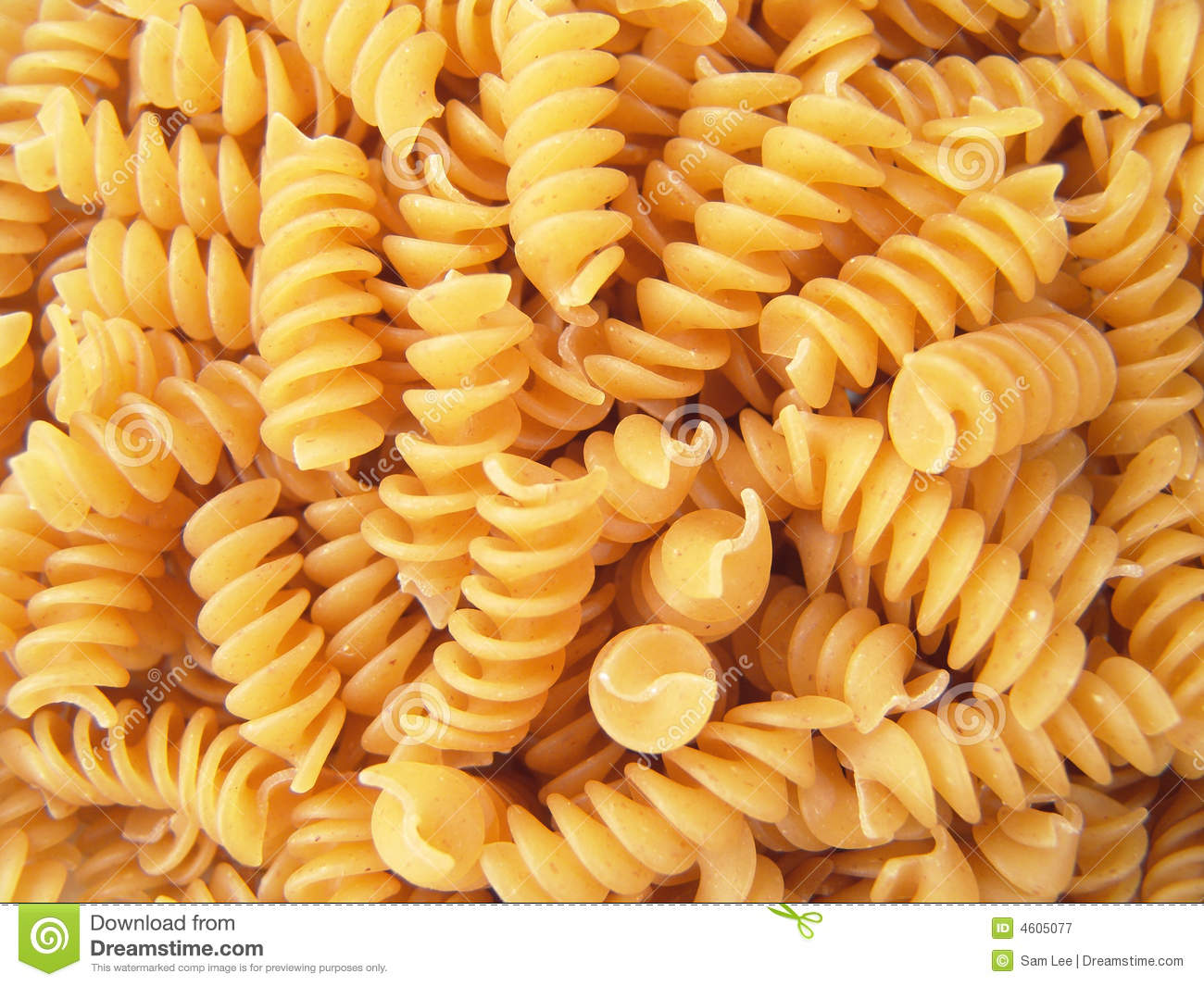Twisted Spiral Noodle Pasta Rotini Royalty Free Stock Photography ...