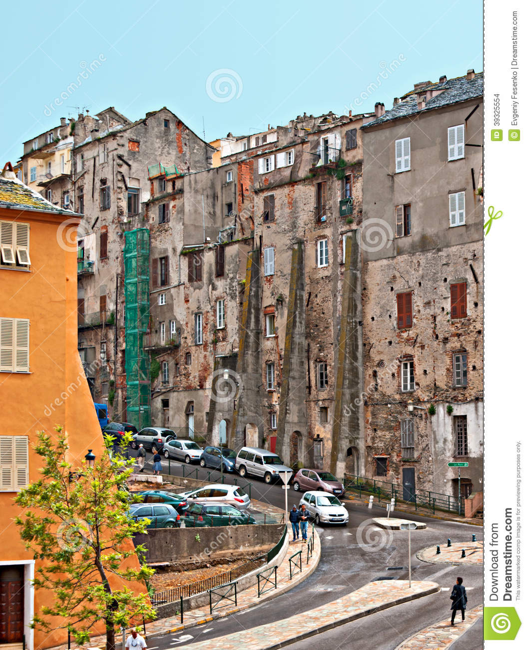 Bastia France  city pictures gallery : BASTIA, FRANCE MAY 1, 2013: The medieval street in historical part ...