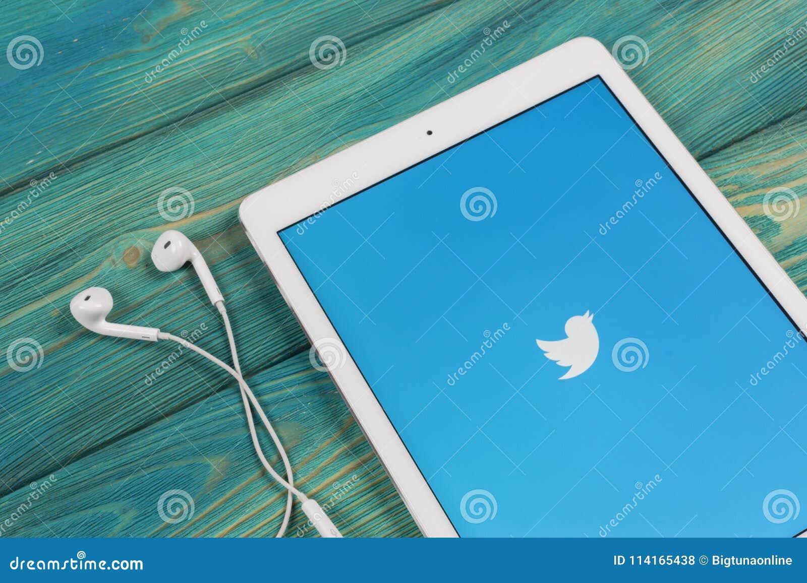 Twitter Application Icon On Apple IPad Smartphone Screen